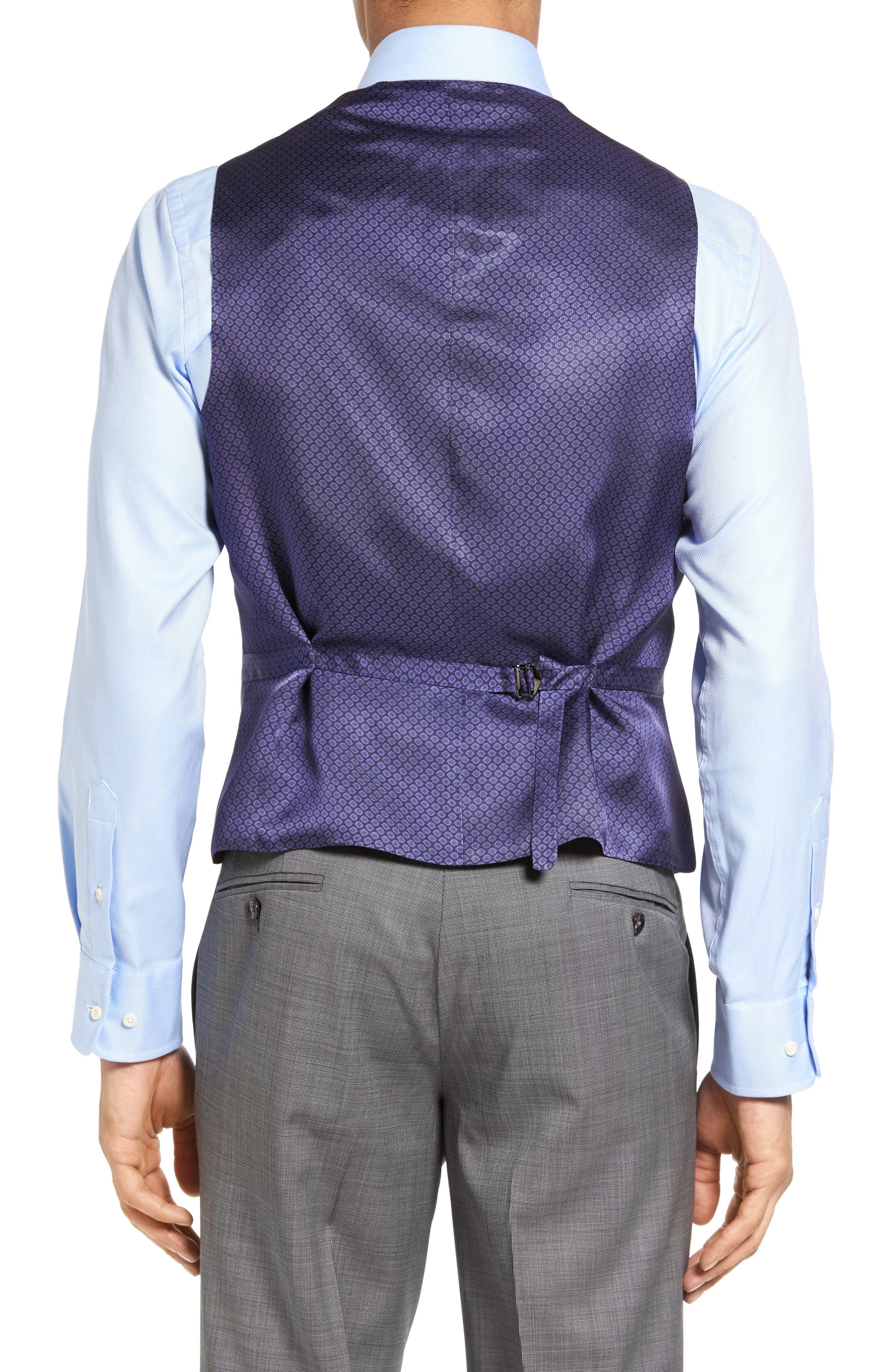 Jones Trim Fit Wool Vest,                             Alternate thumbnail 8, color,