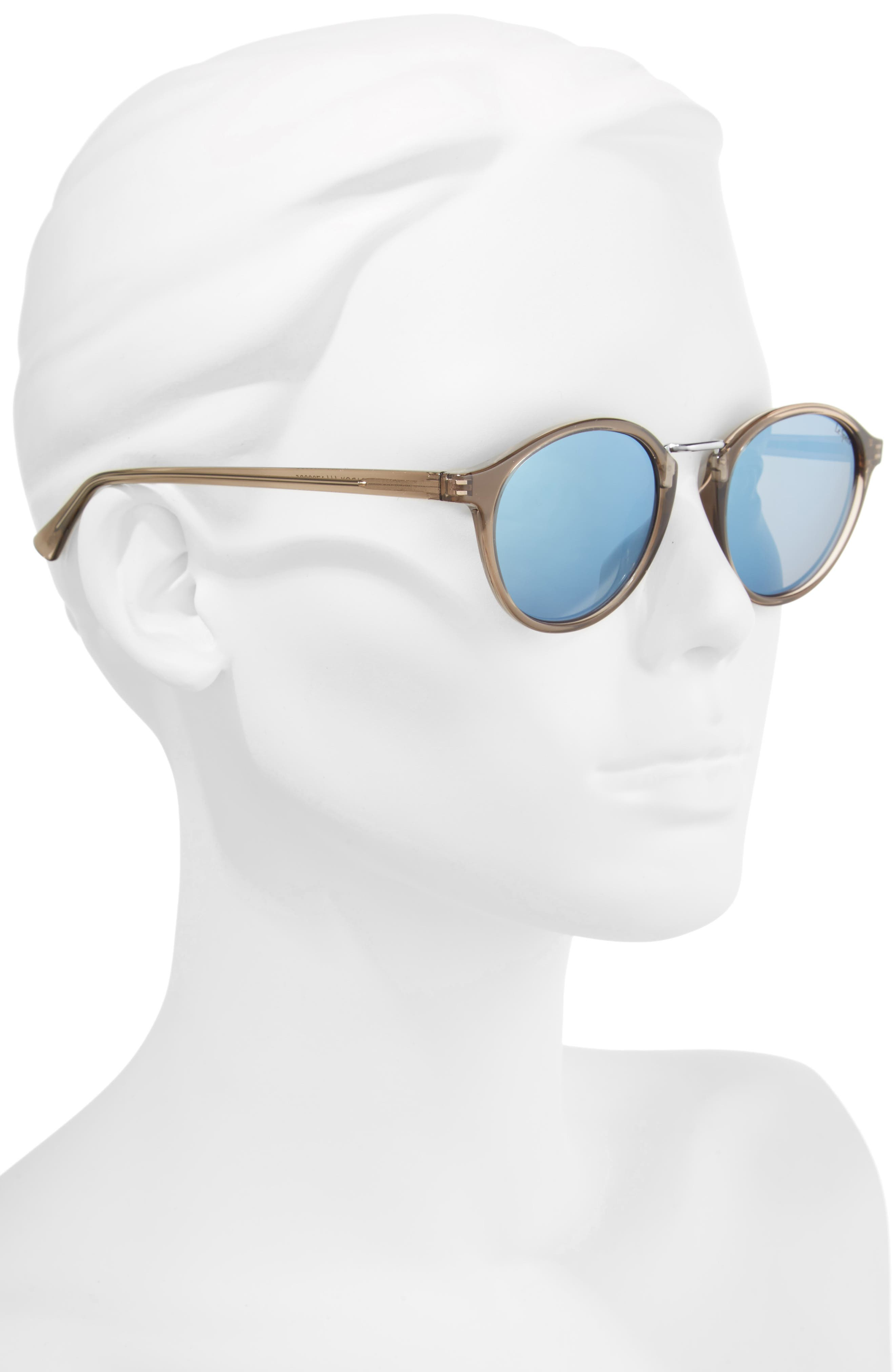 Paradox 49mm Oval Sunglasses,                             Alternate thumbnail 4, color,