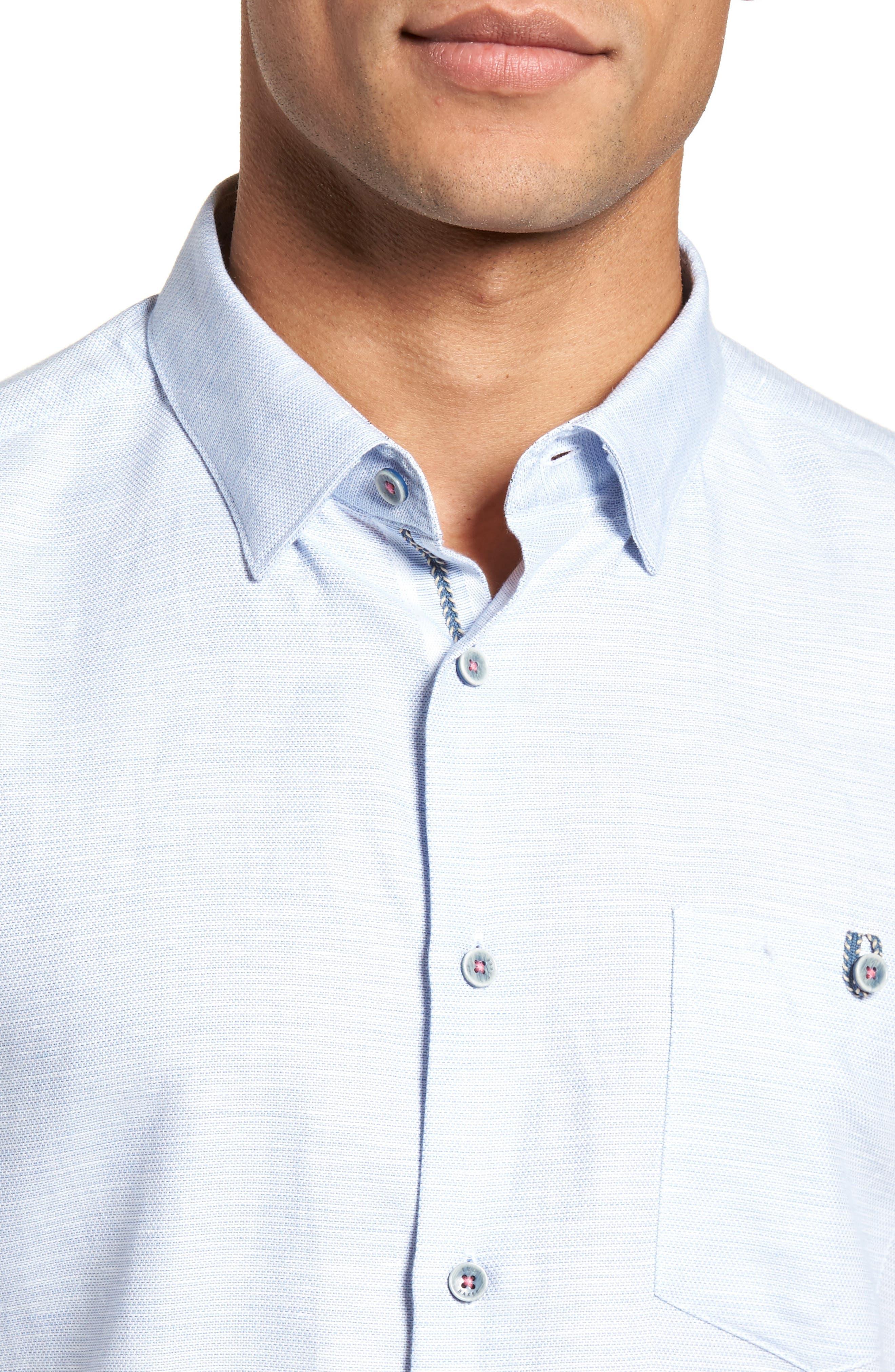 Slim Fit Sport Shirt,                             Alternate thumbnail 19, color,