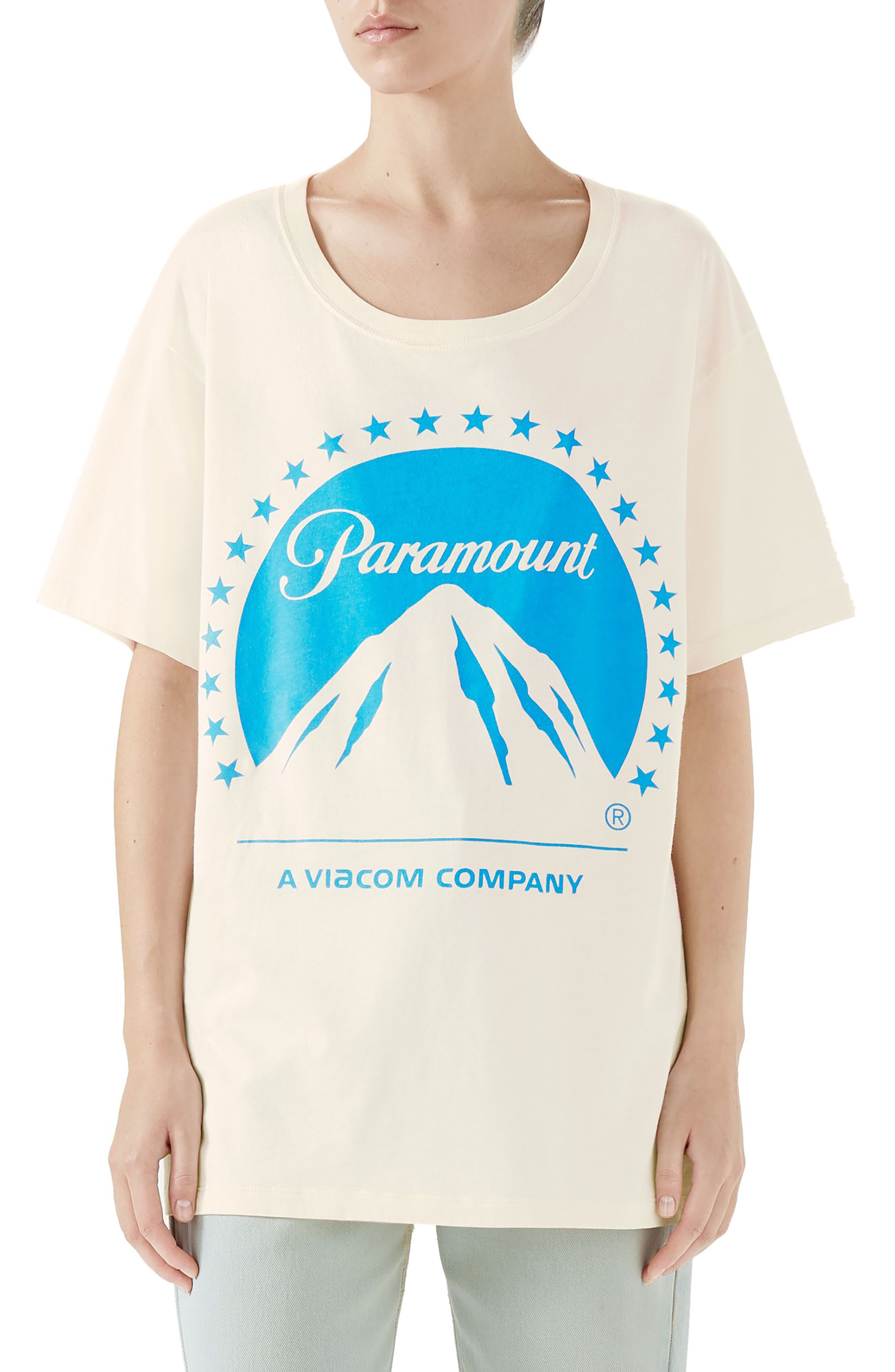 Paramount Print Tee, Main, color, IVORY