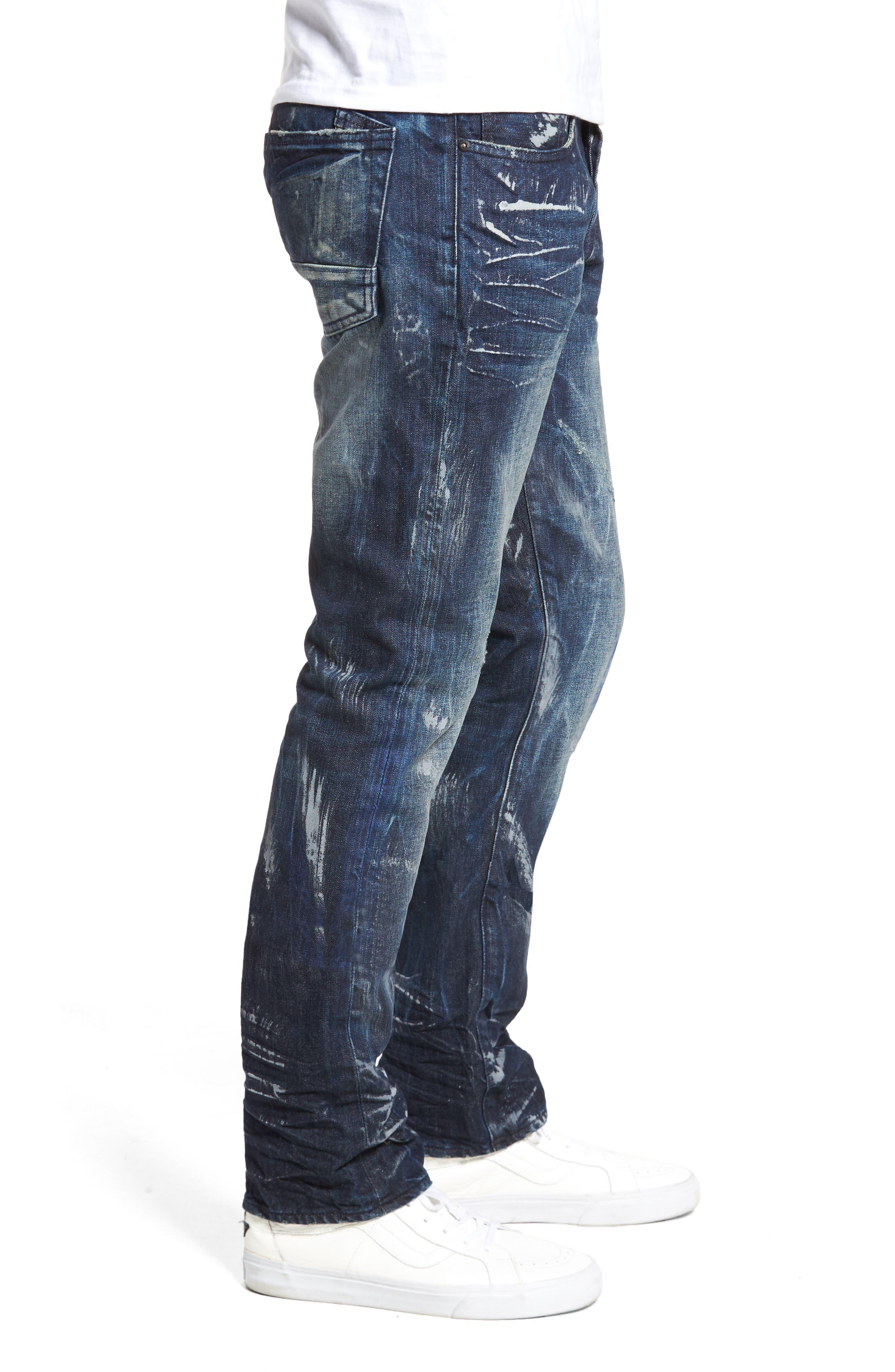 Slim Straight Leg Jeans,                             Alternate thumbnail 3, color,                             490