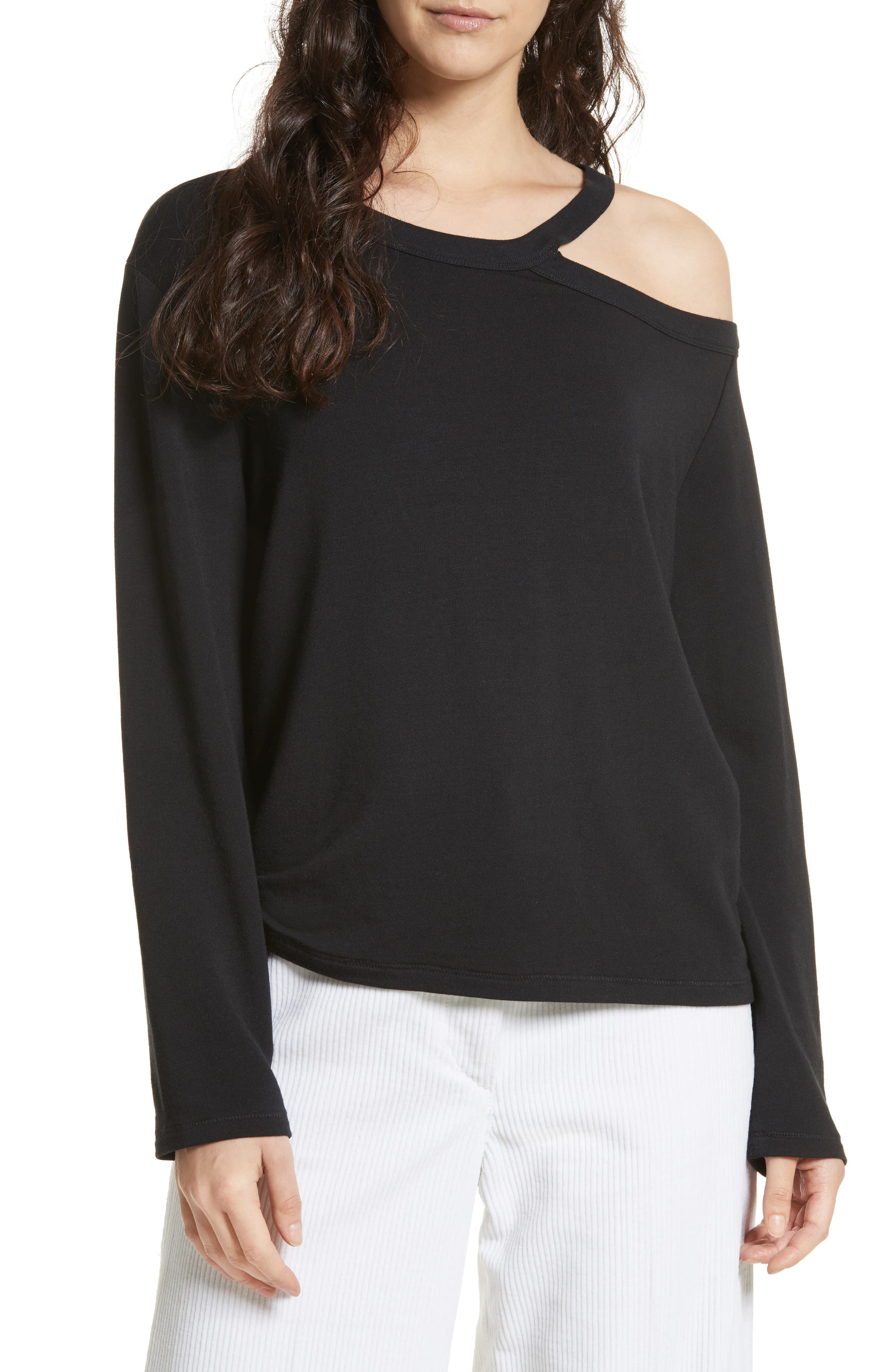 Sky One-Shoulder Top,                             Main thumbnail 1, color,                             001