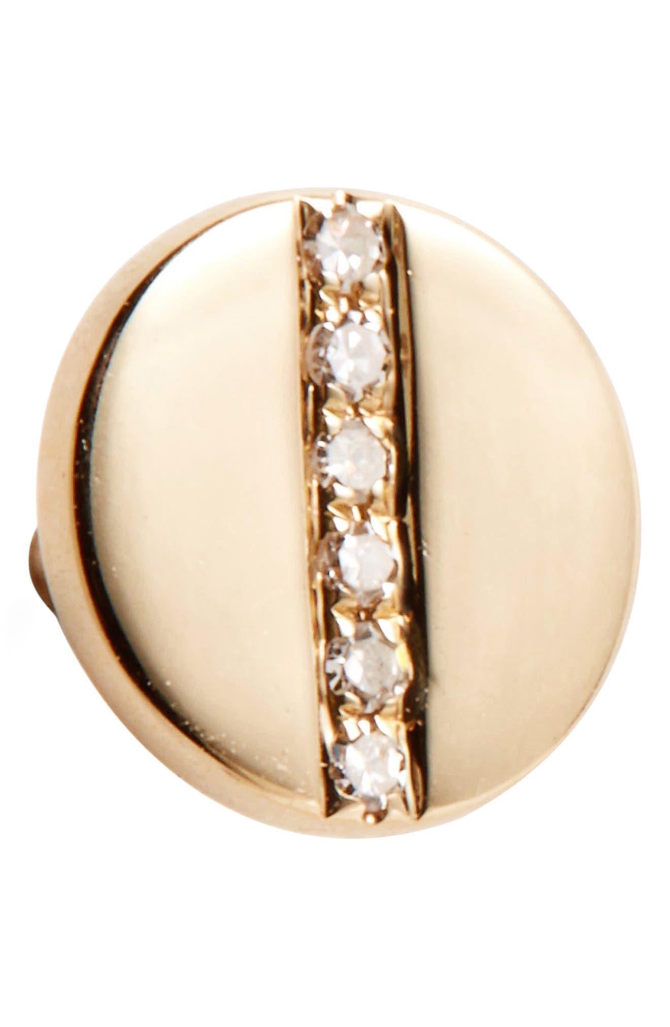 Screw Diamond Stud Earrings,                             Alternate thumbnail 6, color,                             YELLOW GOLD