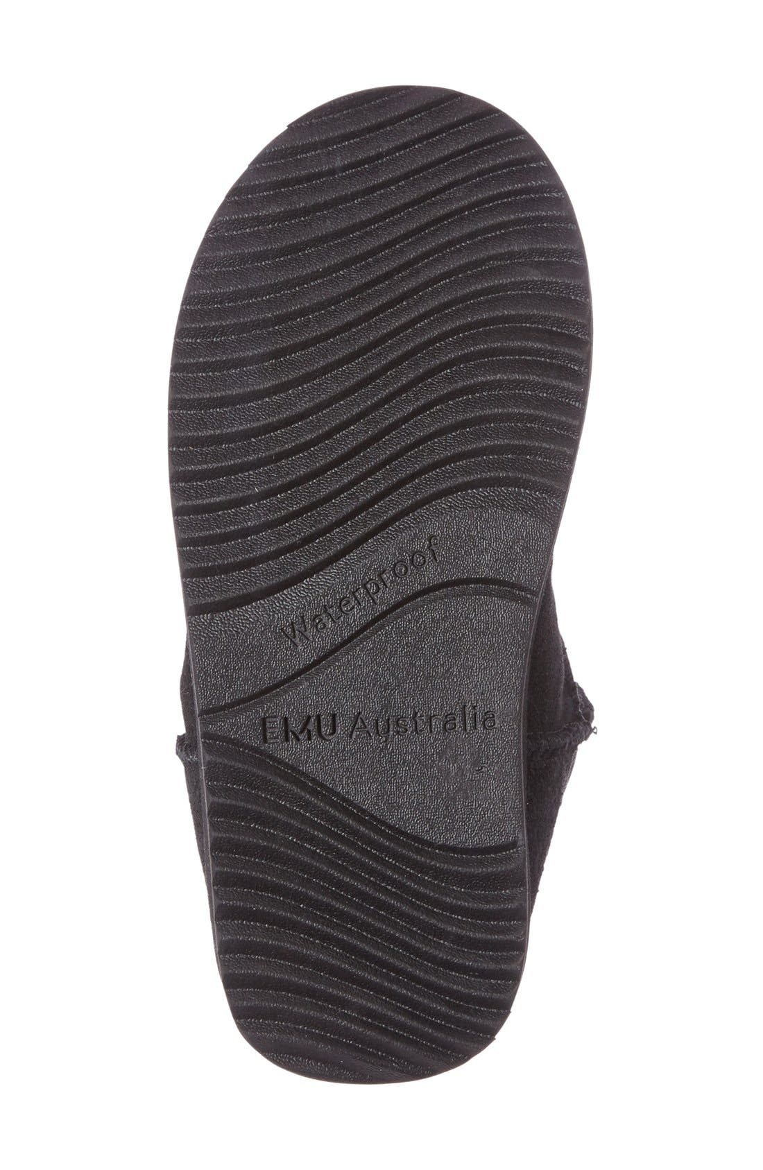 Brumby Waterproof Boot,                             Alternate thumbnail 6, color,                             BLACK SUEDE