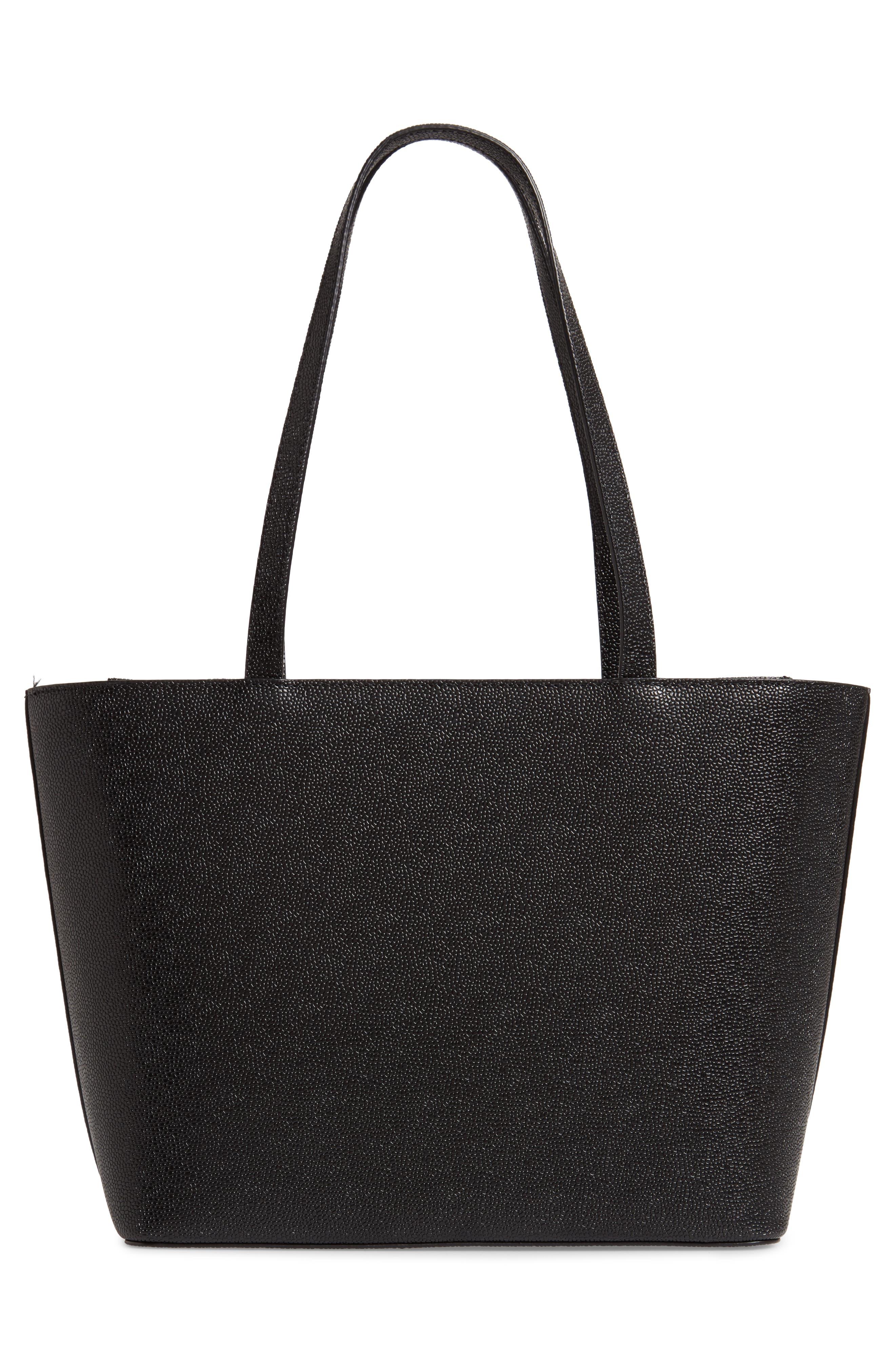 JJesica Leather Shopper,                             Alternate thumbnail 3, color,                             BLACK