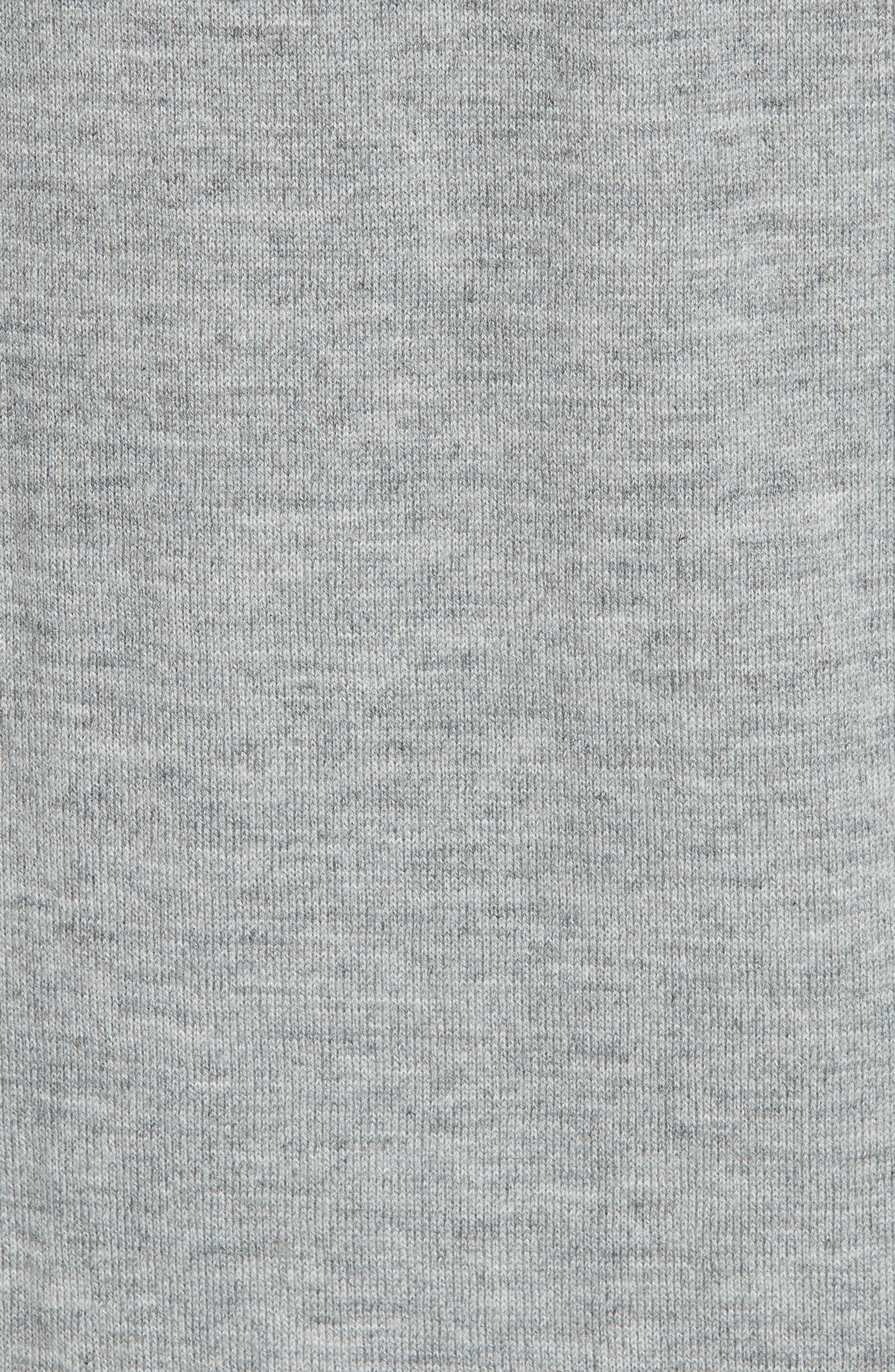 Loop Knit Long Cardigan,                             Alternate thumbnail 5, color,                             HEATHER GREY
