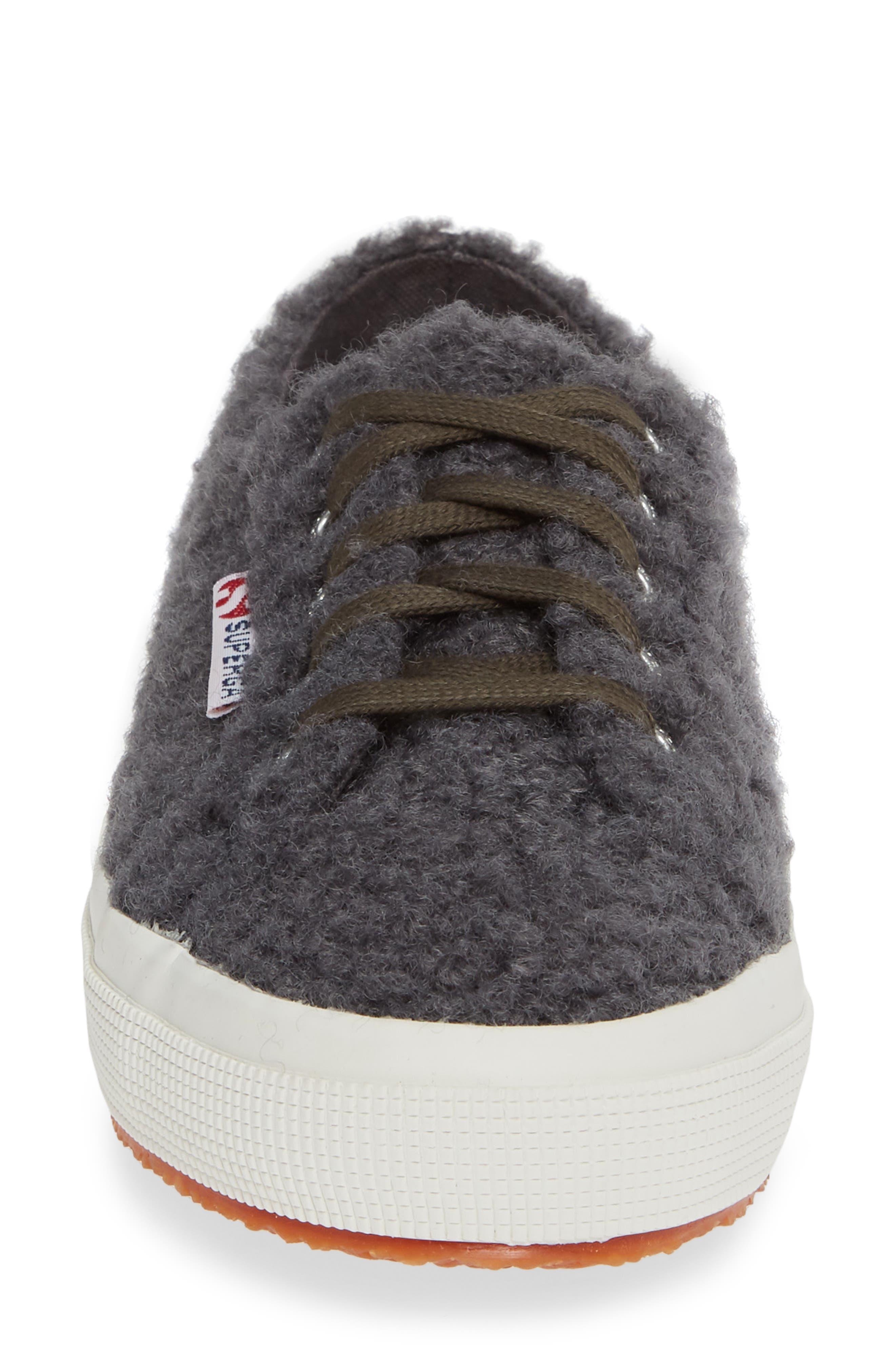 2759 Curly Wool Sneaker,                             Alternate thumbnail 4, color,                             DARK GREY/ GREY