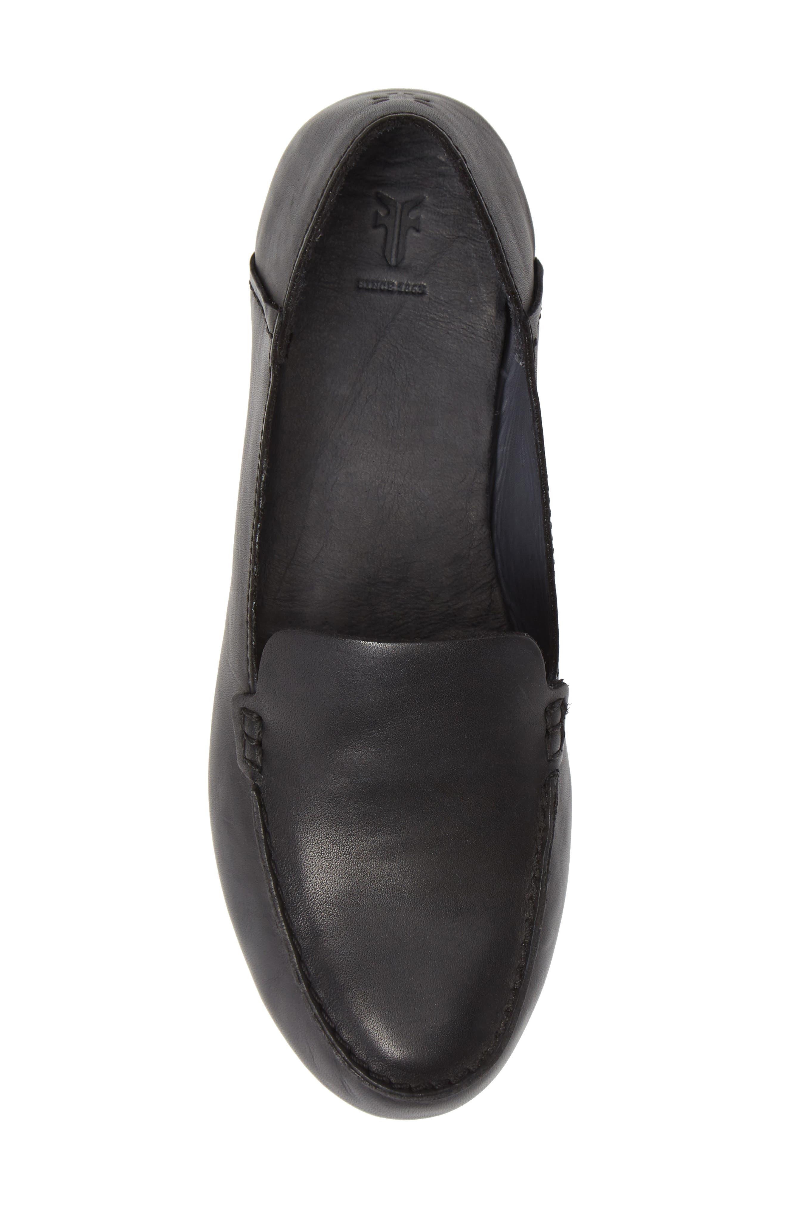 Sedona Venetian Loafer,                             Alternate thumbnail 5, color,                             BLACK LEATHER