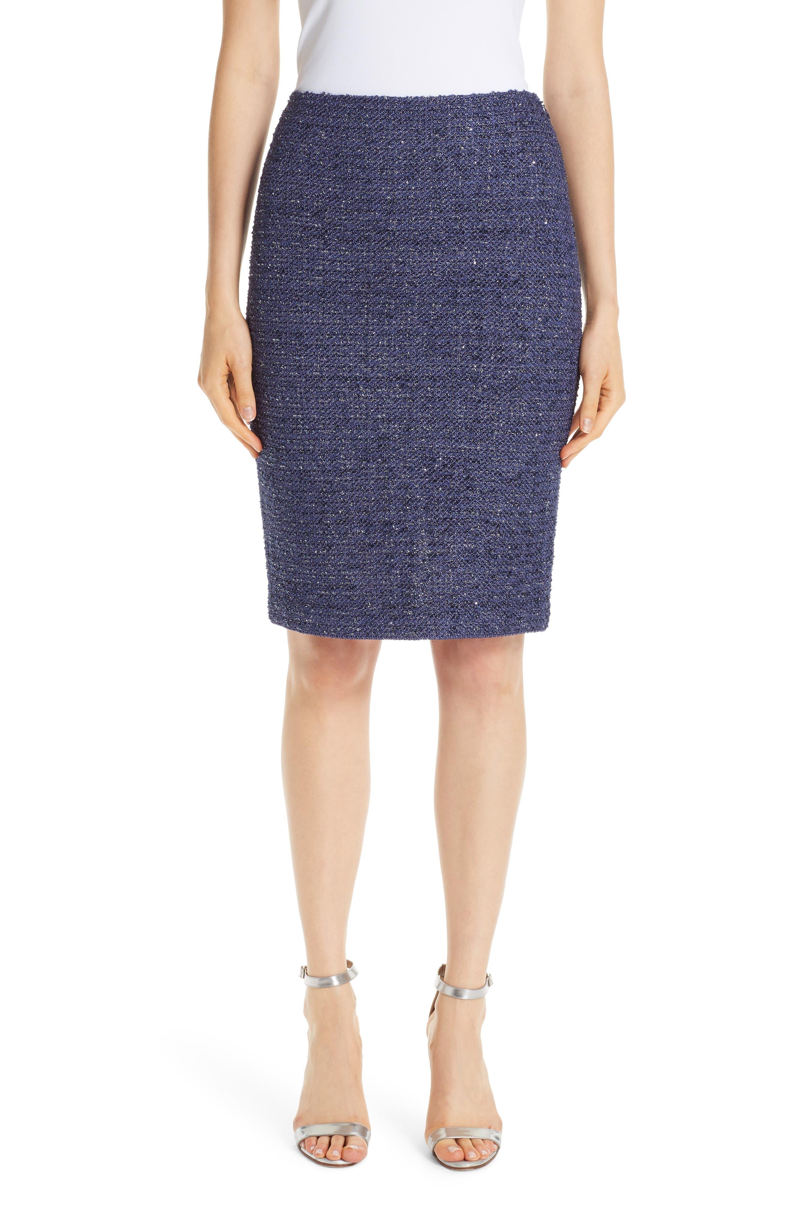 Starlight Knit Pencil Skirt,                         Main,                         color, VIOLA MULTI