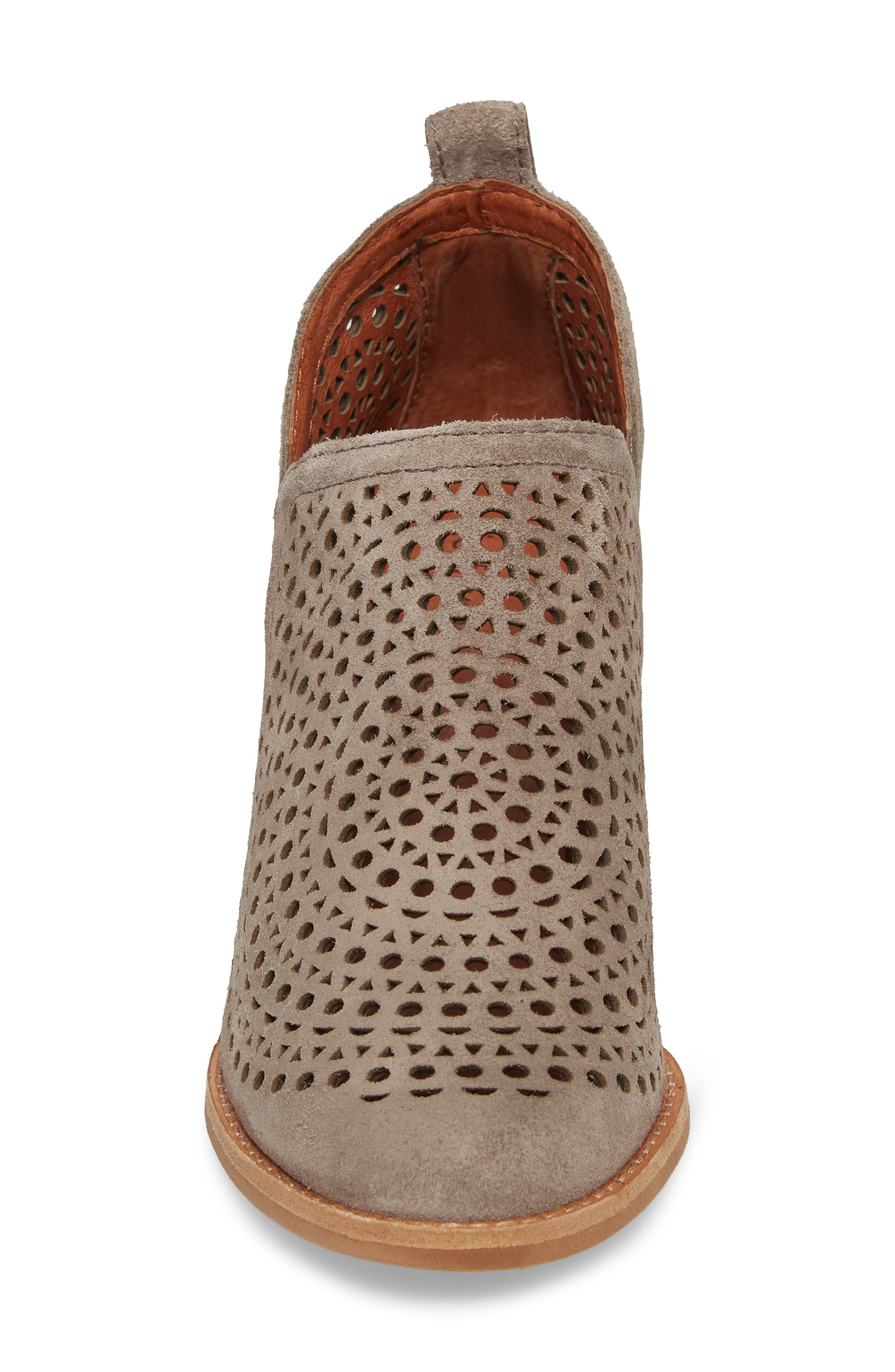 Rosalee Bootie,                             Alternate thumbnail 4, color,                             TAUPE SUEDE