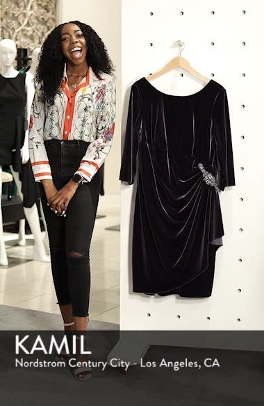 Alex Evening Velvet Sheath Dress, sales video thumbnail