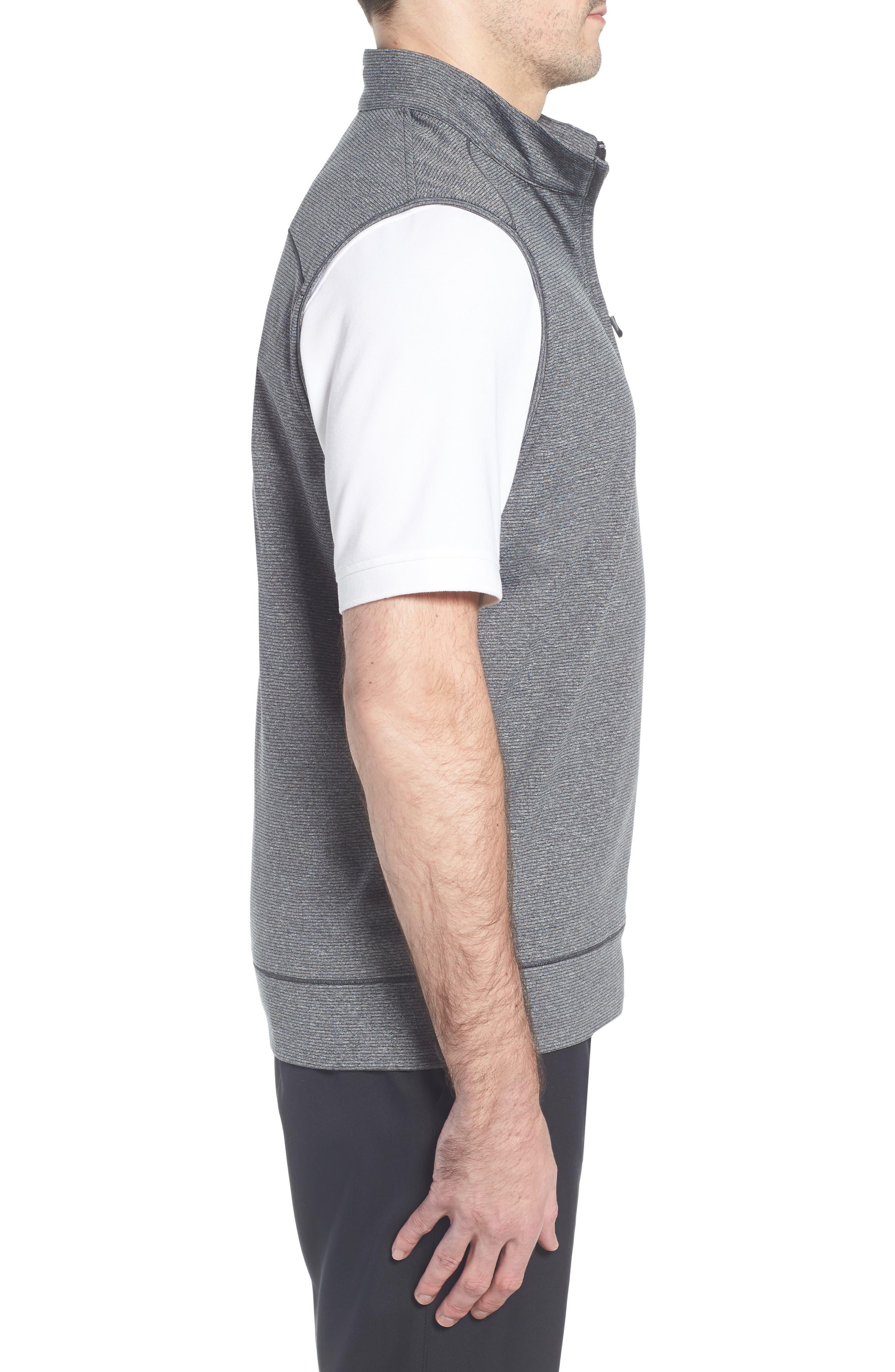 Shoreline Quarter Zip Vest,                             Alternate thumbnail 3, color,                             CHARCOAL HEATHER