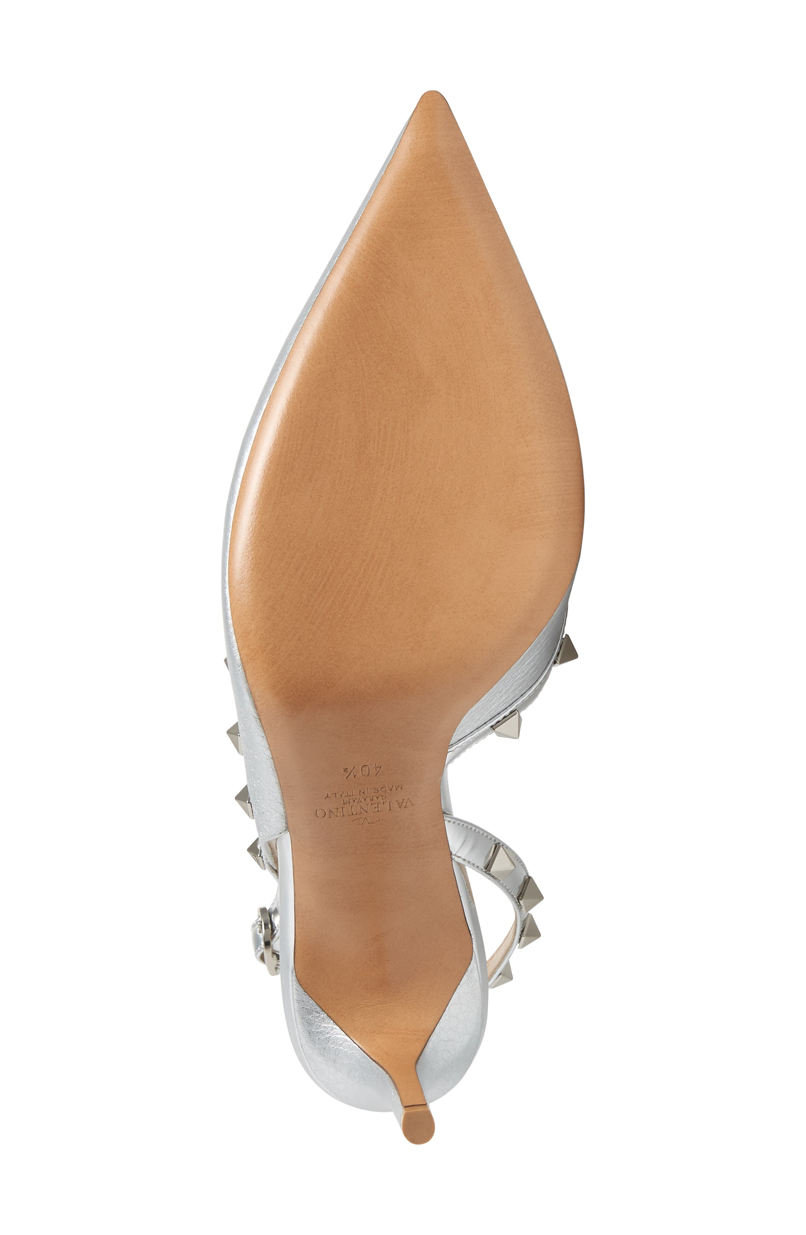 Rockstud Slingback Pump,                             Alternate thumbnail 6, color,                             SILVER