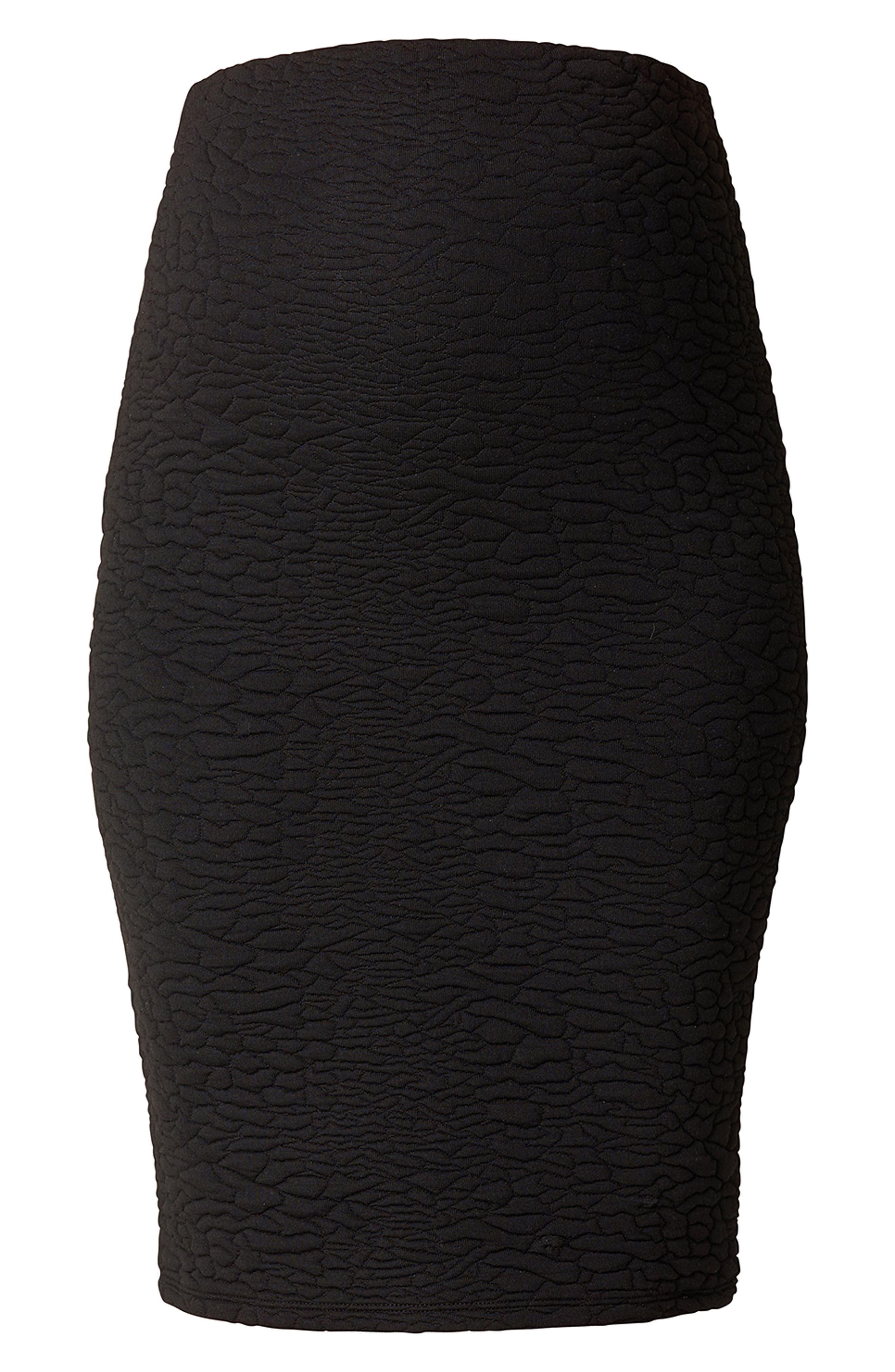 Jane Textured Knit Maternity Skirt,                             Main thumbnail 1, color,                             BLACK