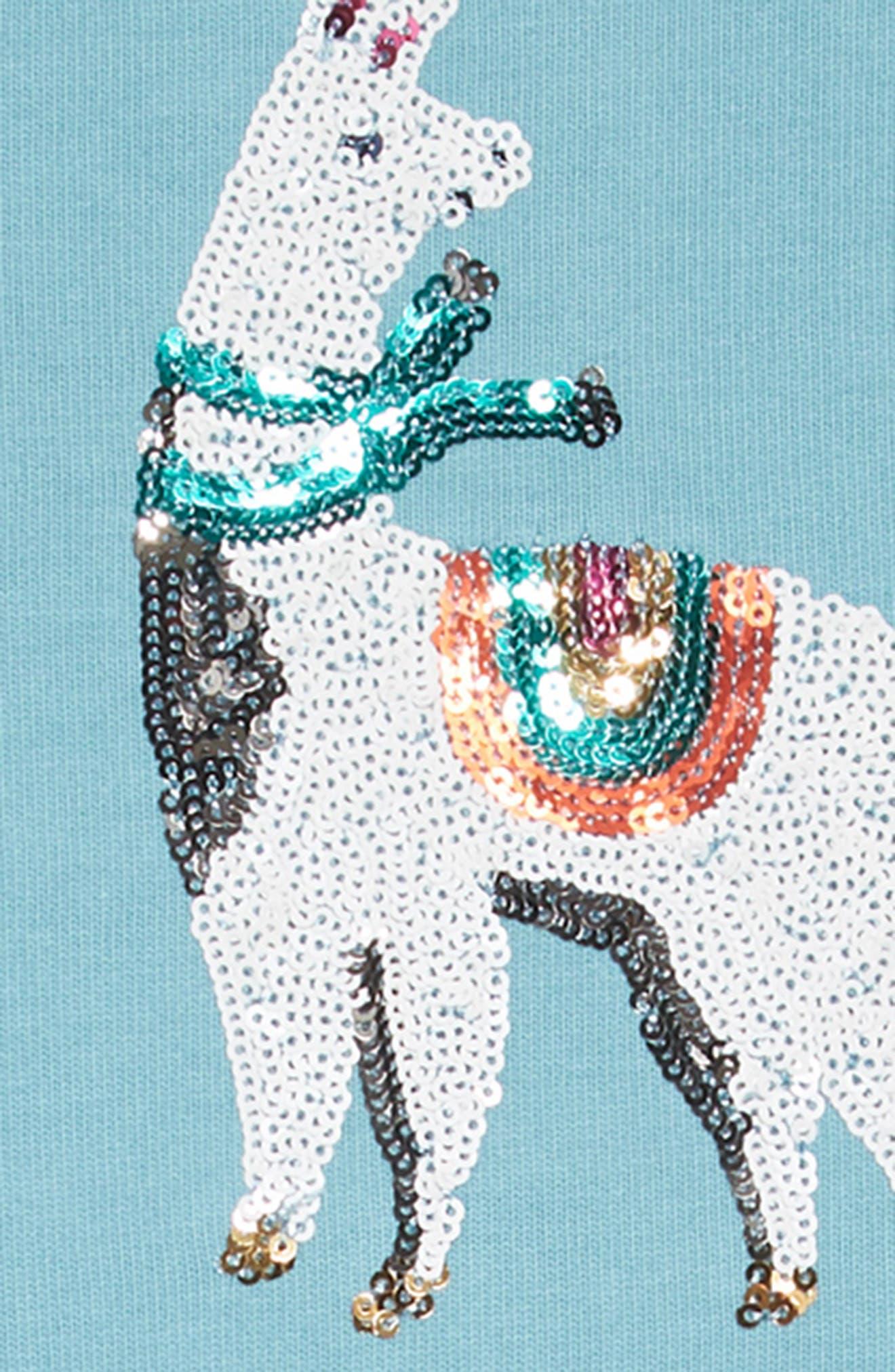 Sequin Logo Dress,                             Alternate thumbnail 3, color,                             664