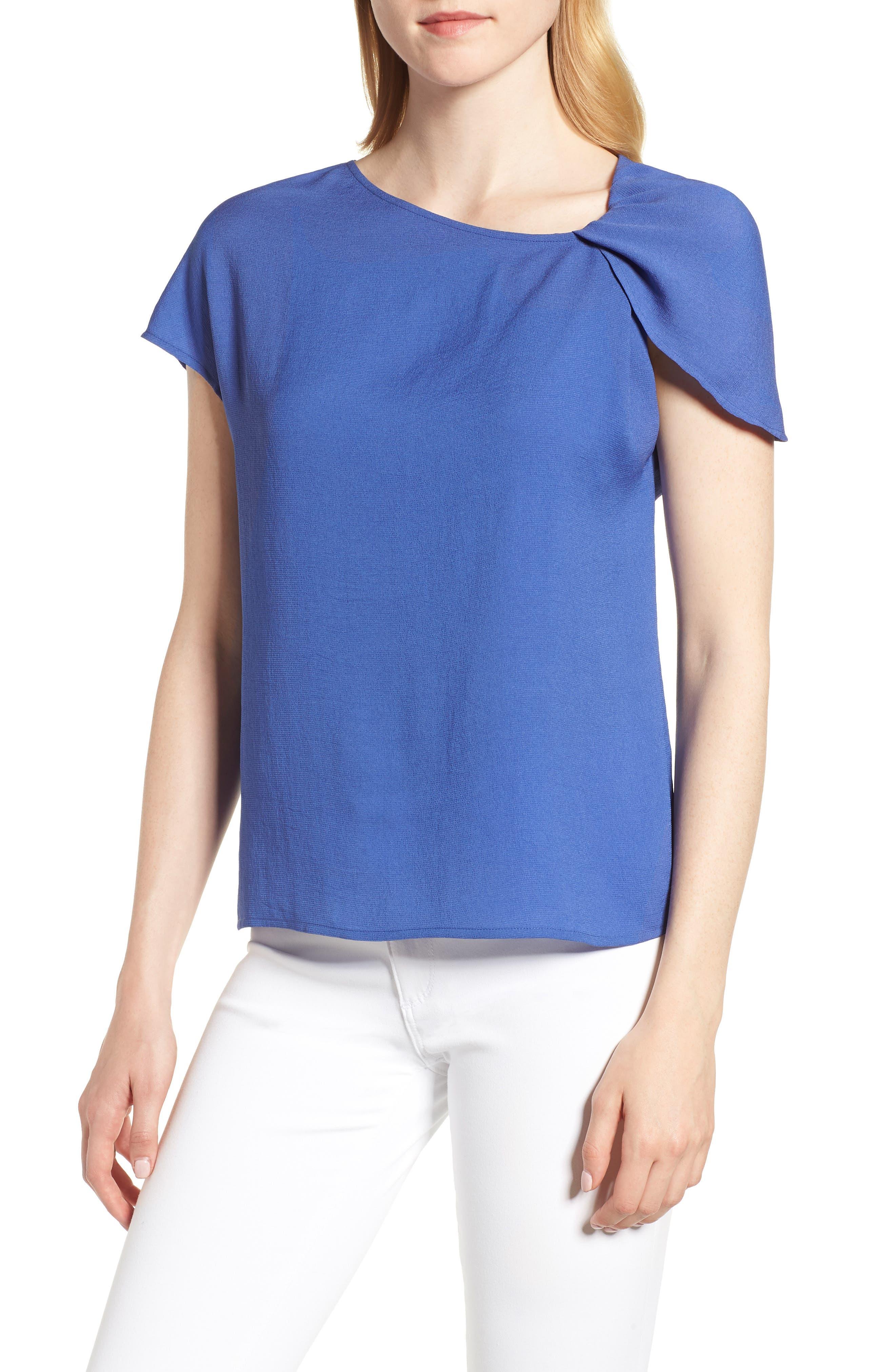 Asymmetrical Shoulder Top,                         Main,                         color, 420