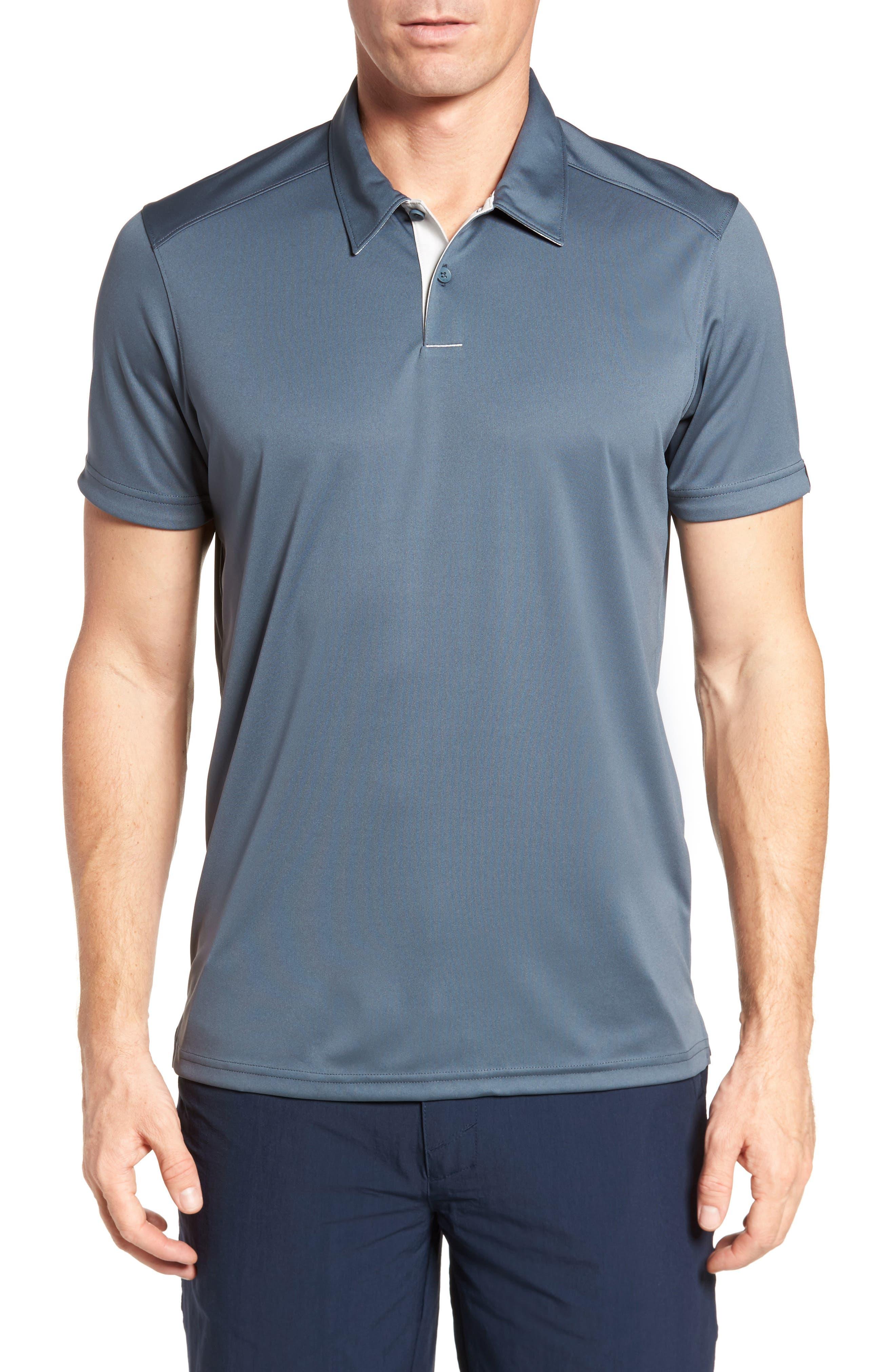 Divisional Polo Shirt,                         Main,                         color, DARK SLATE