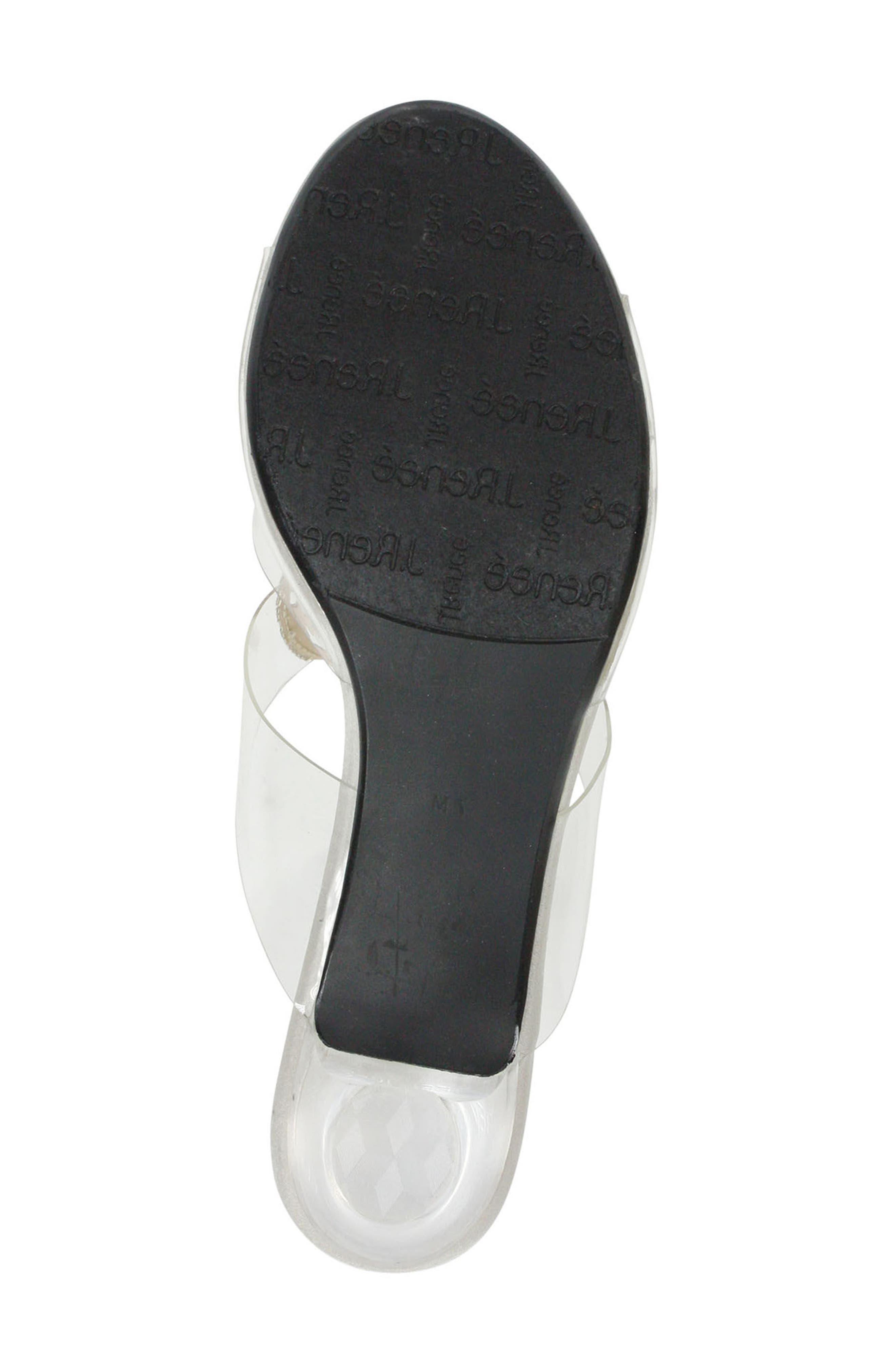Sabreen Crystal Embellished Sandal,                             Alternate thumbnail 6, color,                             SILVER/ CLEAR