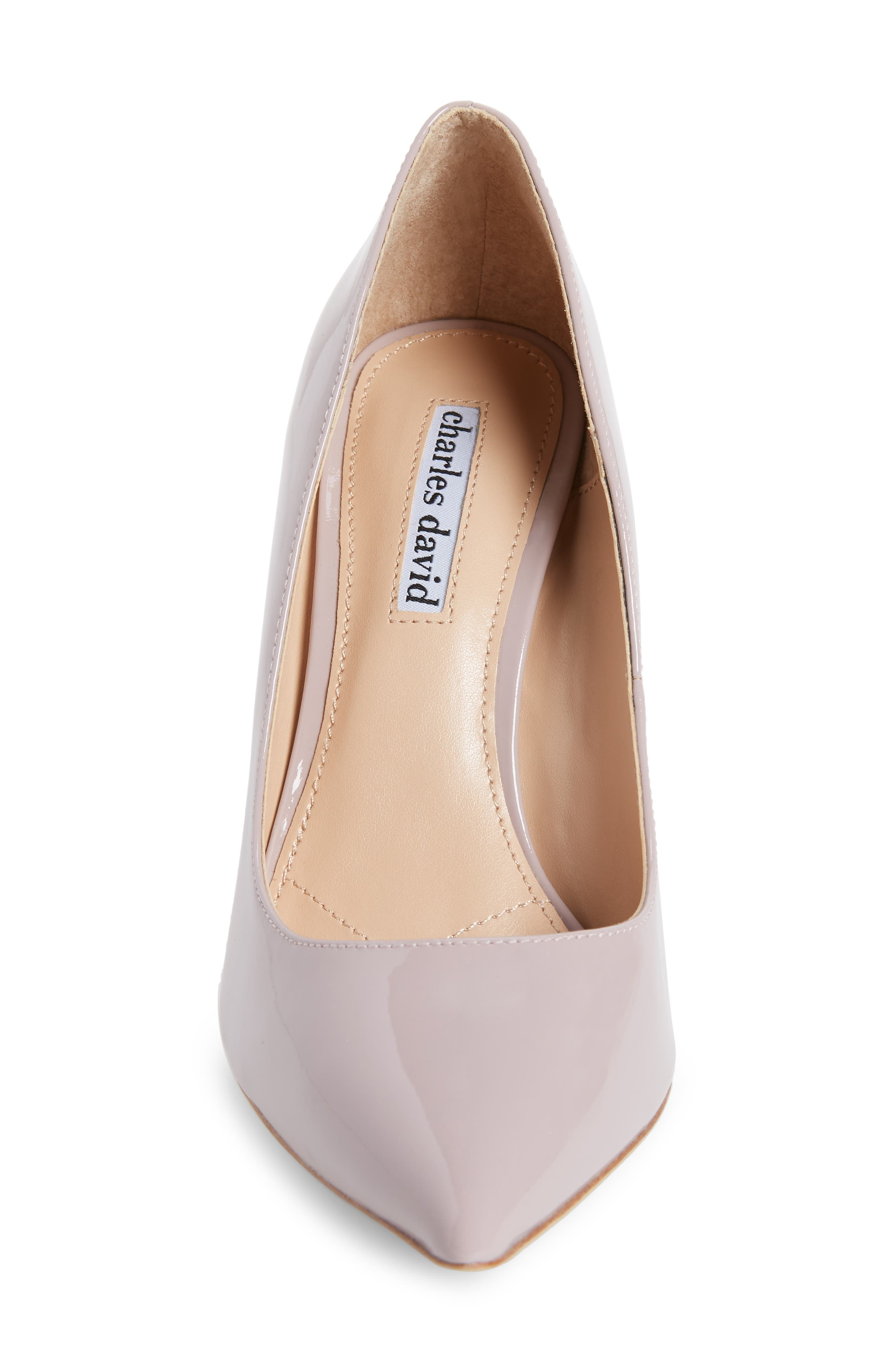 Calessi Pointy Toe Pump,                             Alternate thumbnail 4, color,                             LAVENDER PATENT LEATHER