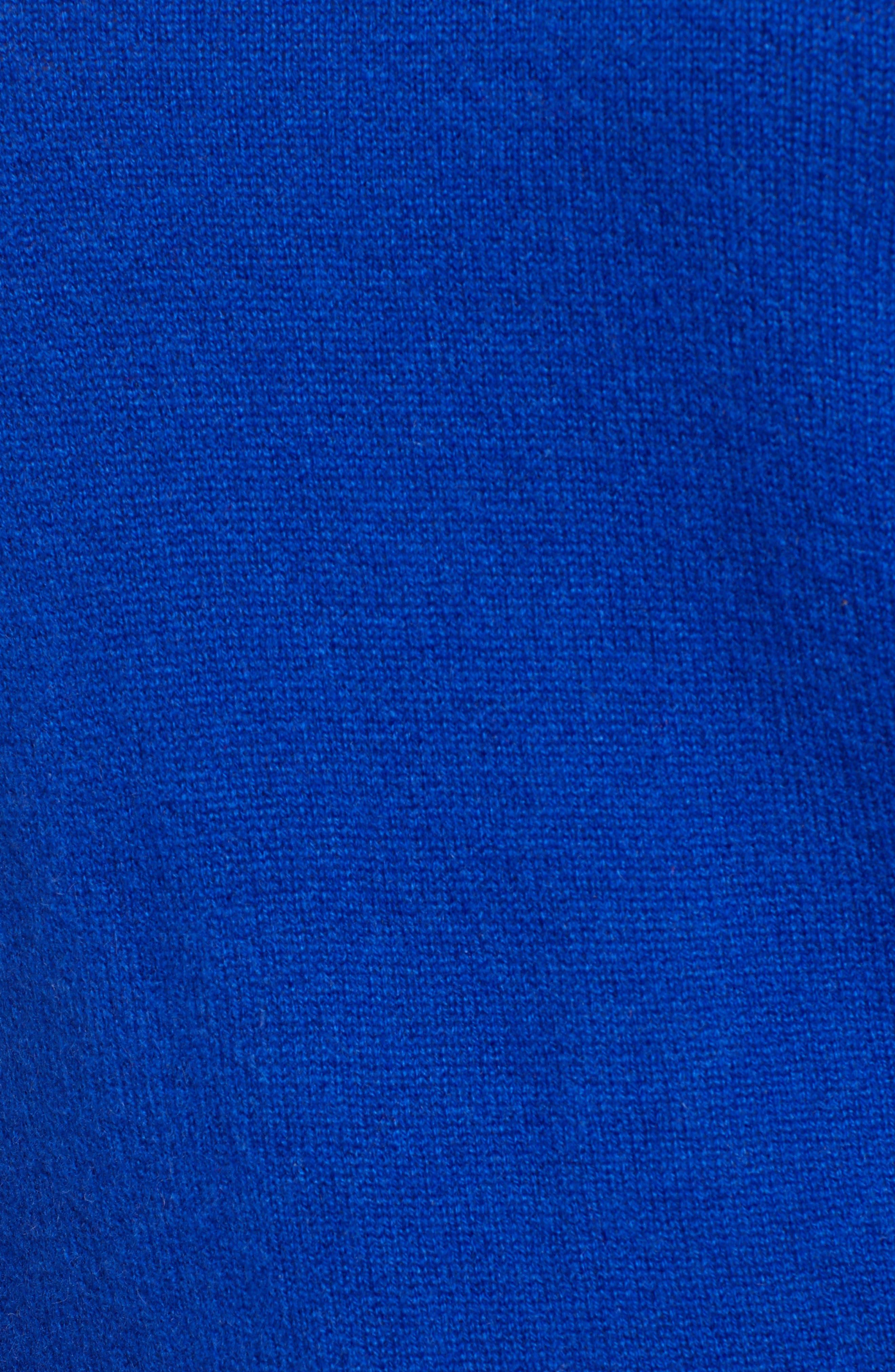 Crewneck Cashmere Sweater,                             Alternate thumbnail 5, color,                             BLUE MAZARINE
