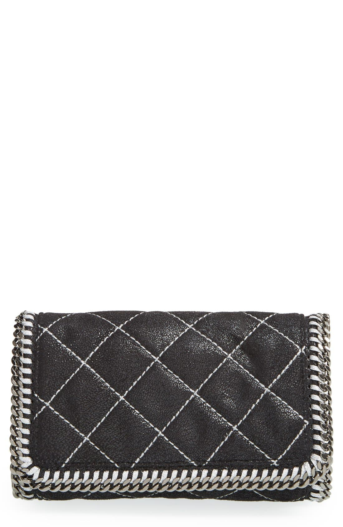 'Falabella' Quilted Faux Leather Crossbody Bag,                             Main thumbnail 2, color,