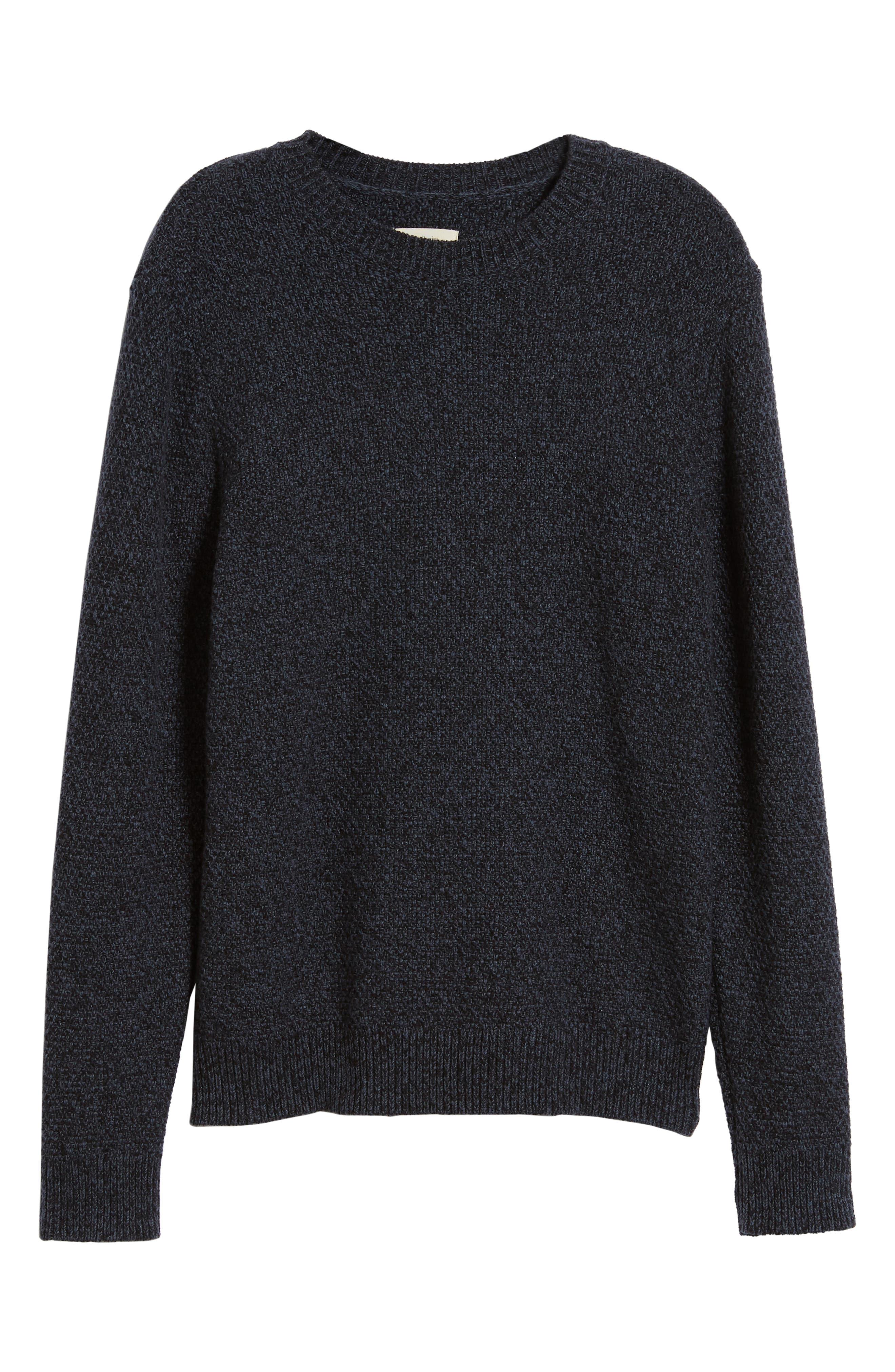 Montreal Slim Fit Crewneck Sweater,                             Alternate thumbnail 6, color,                             NAVY