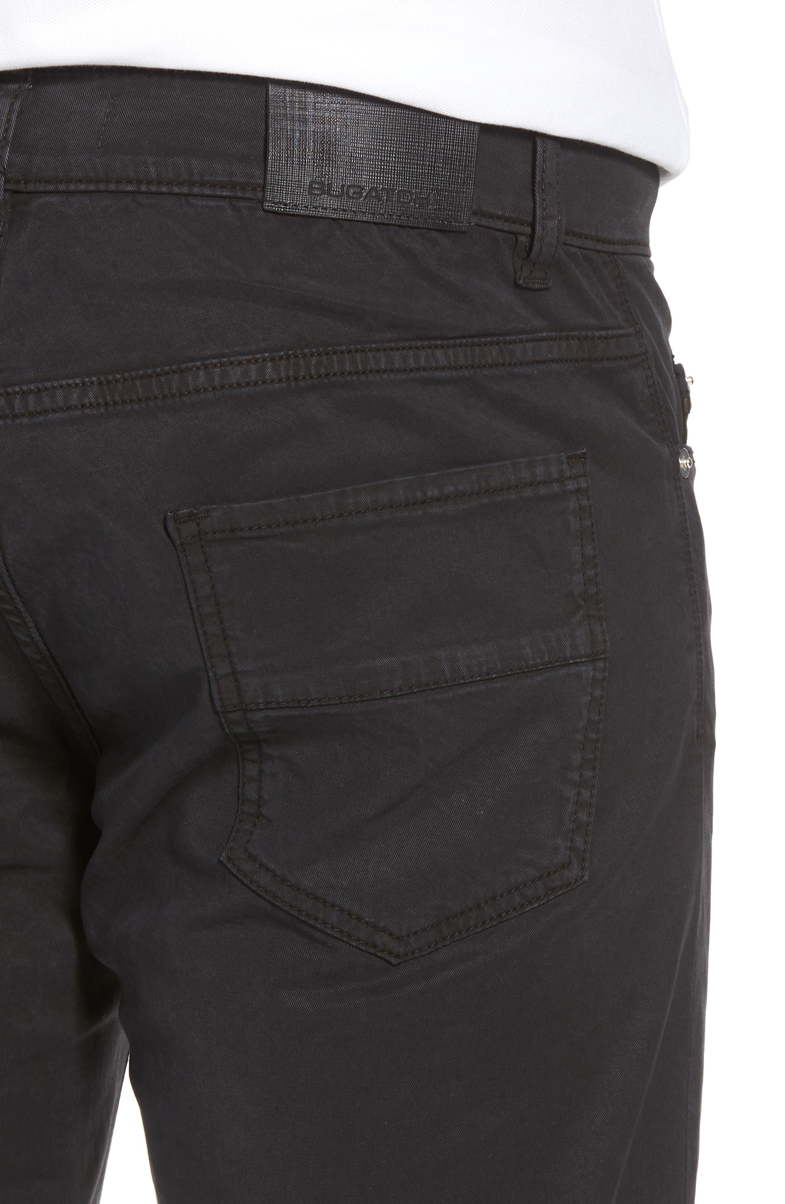 BUGATCHI,                             Trim Fit Pants,                             Alternate thumbnail 4, color,                             001