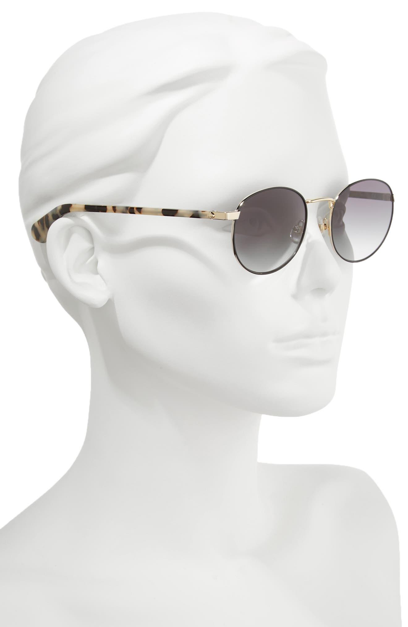 adelais 50mm round sunglasses,                             Alternate thumbnail 5, color,