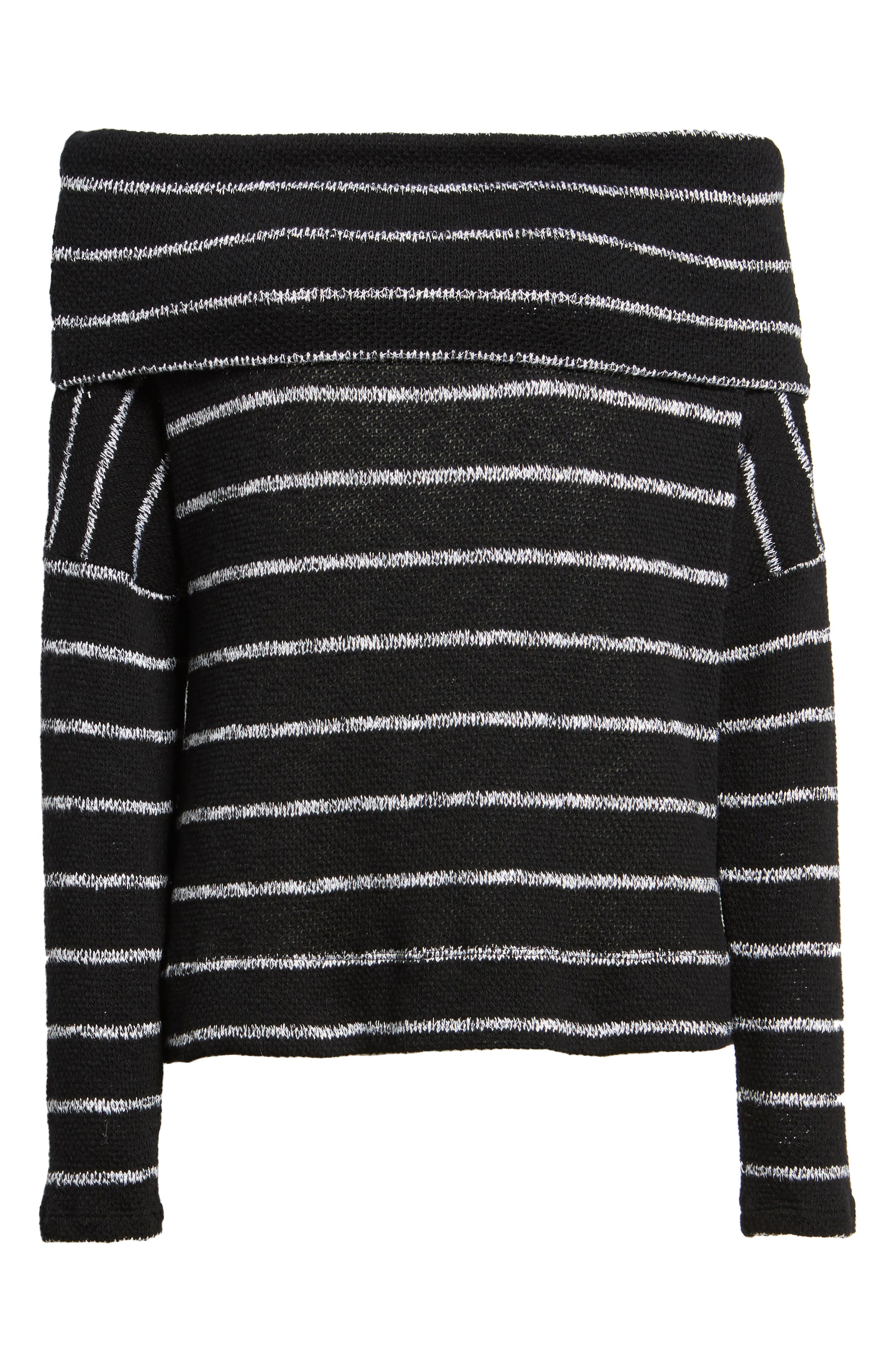 Convertible Off the Shoulder Pullover,                             Alternate thumbnail 6, color,                             002