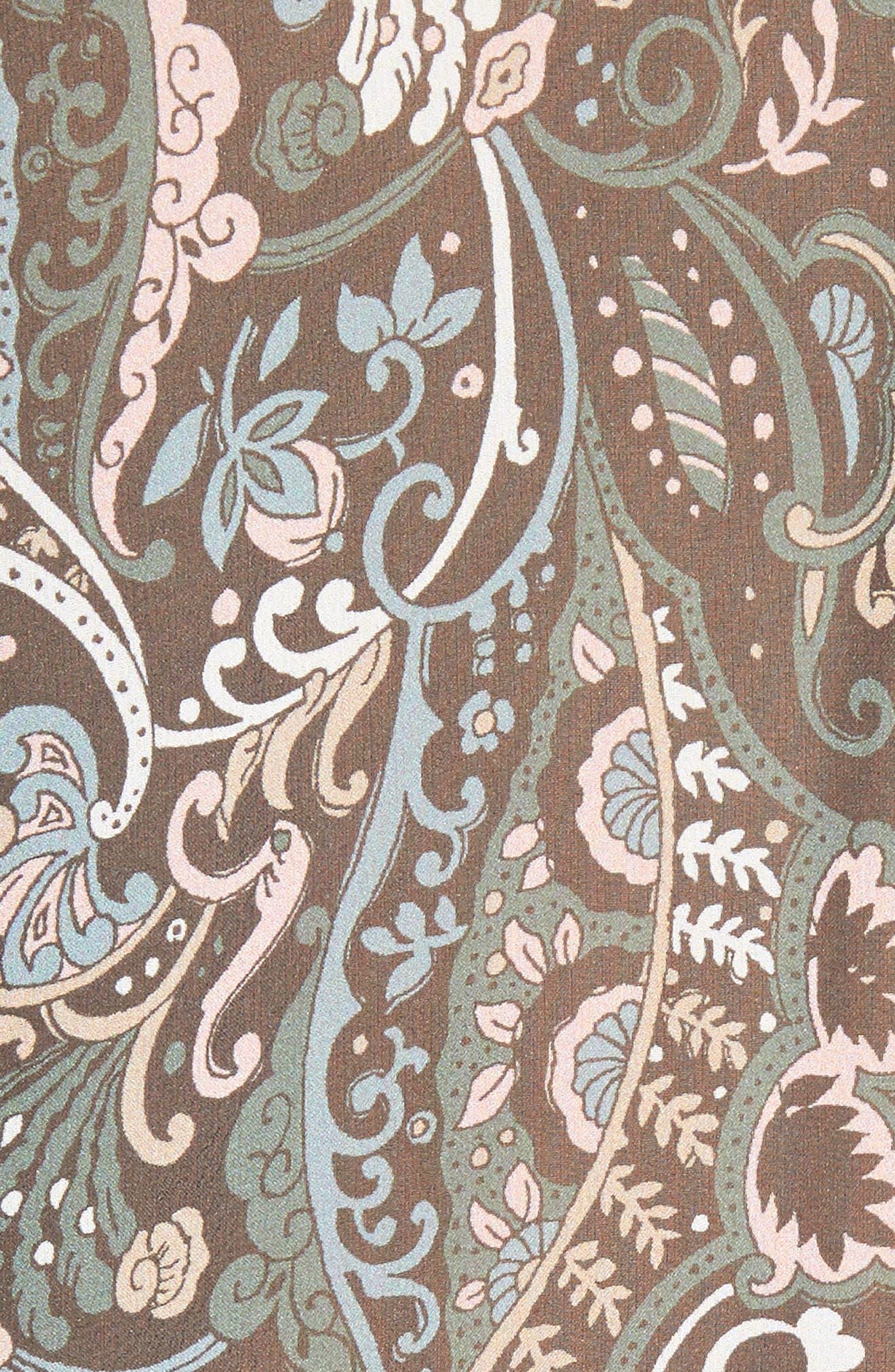 Gayle Paisley Print Silk Blouse,                             Alternate thumbnail 5, color,                             452