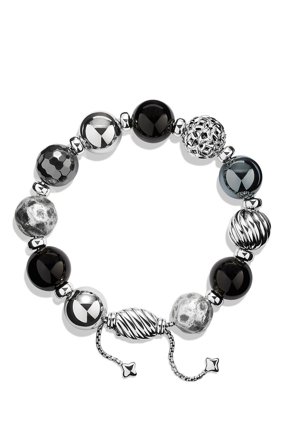 'DY Elements' Bracelet with Black Onyx and Hematine,                             Alternate thumbnail 2, color,                             001