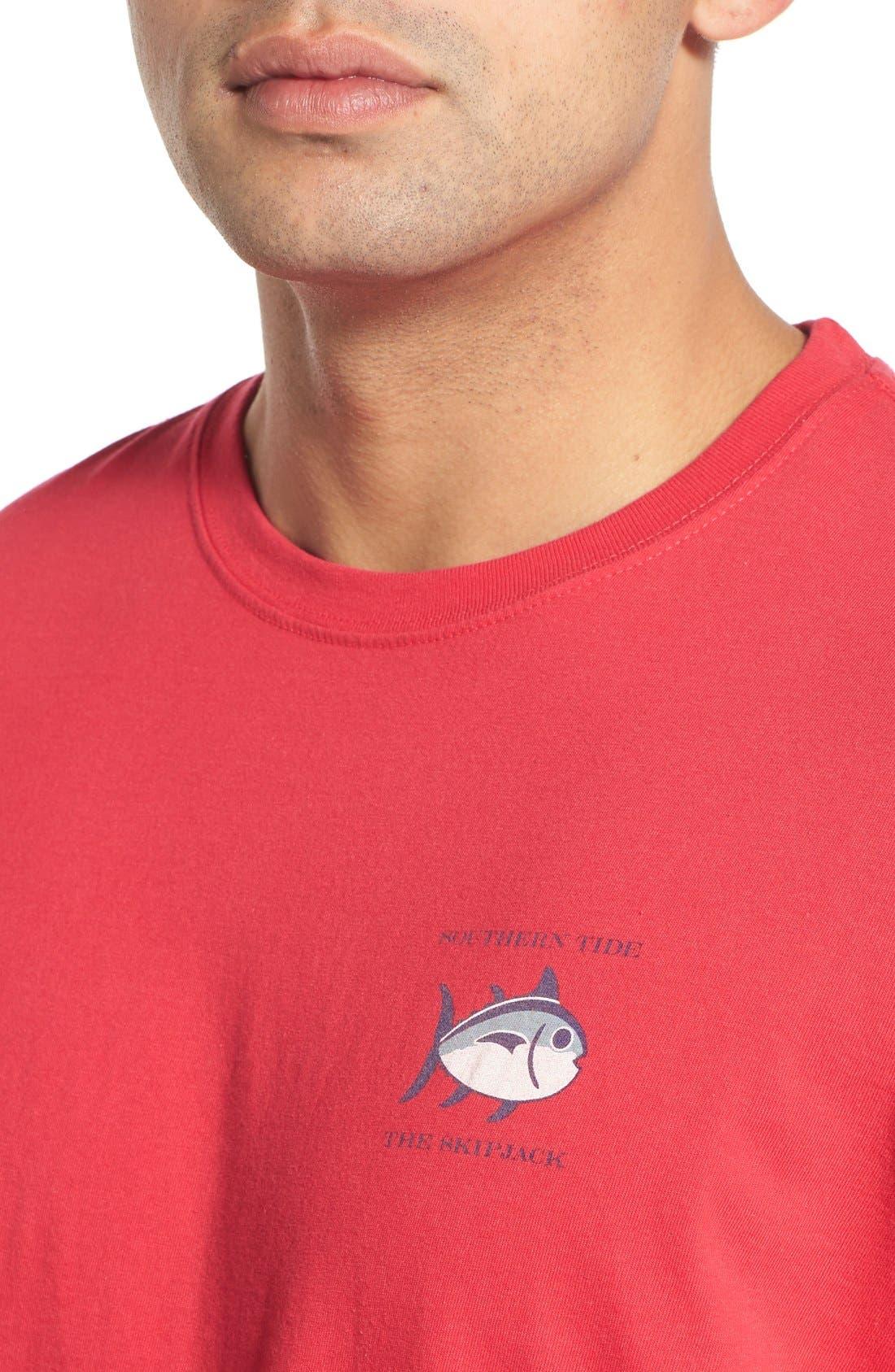 'Skipjack'Long Sleeve Graphic T-Shirt,                             Alternate thumbnail 43, color,