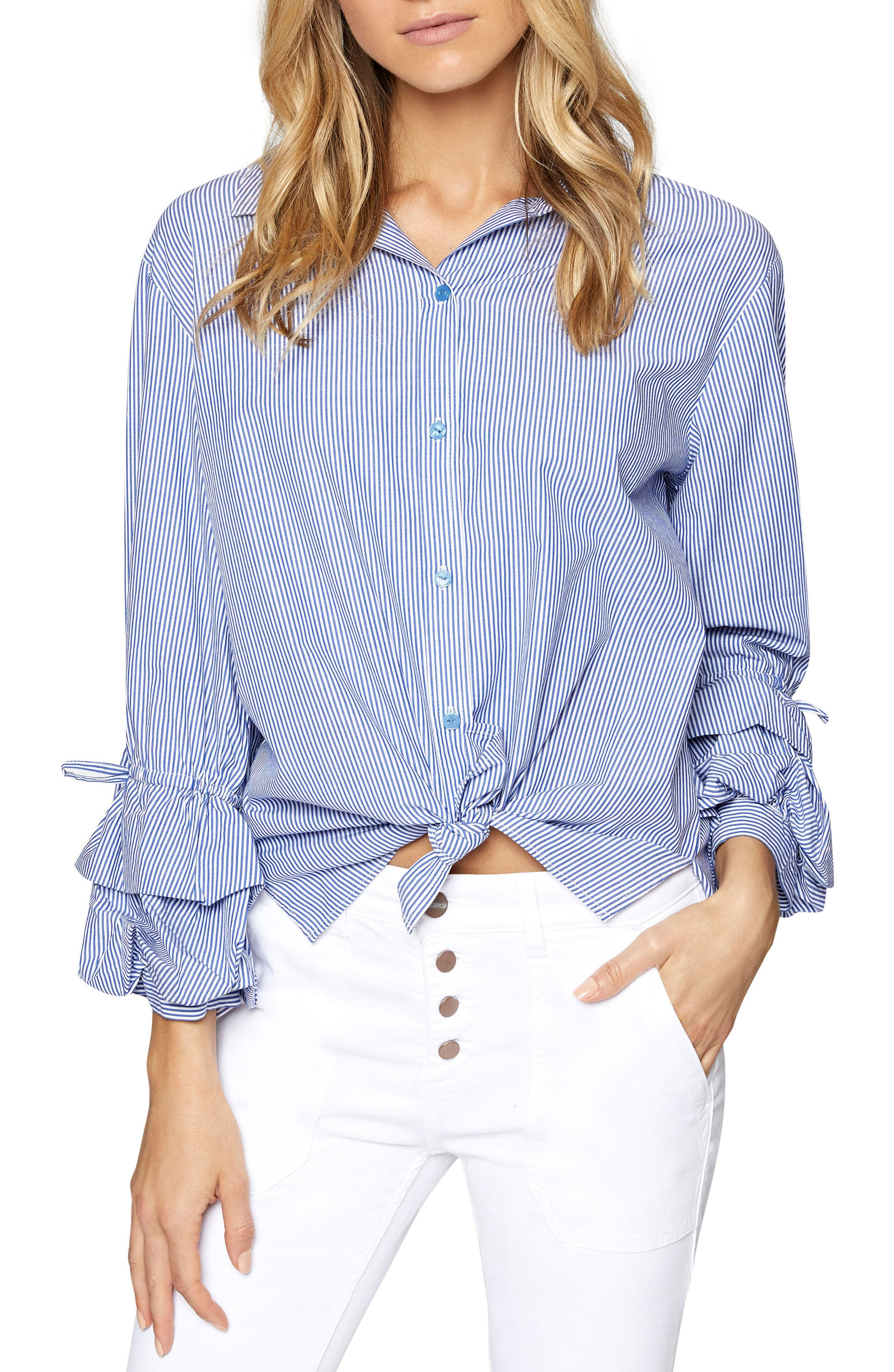 Frankie Ruffle Sleeve Shirt,                         Main,                         color, 422