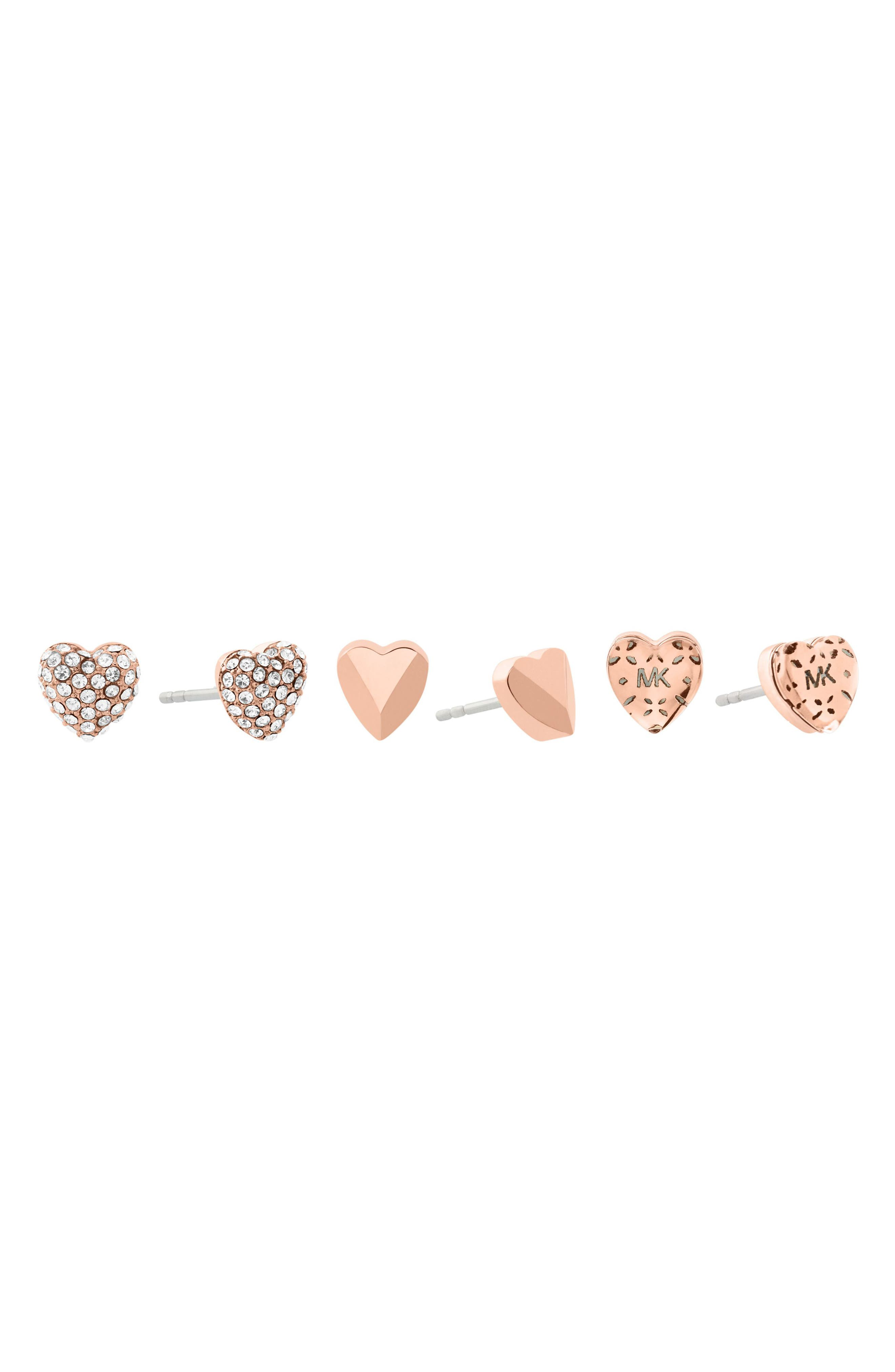 Set of 3 Stud Earrings,                             Alternate thumbnail 5, color,