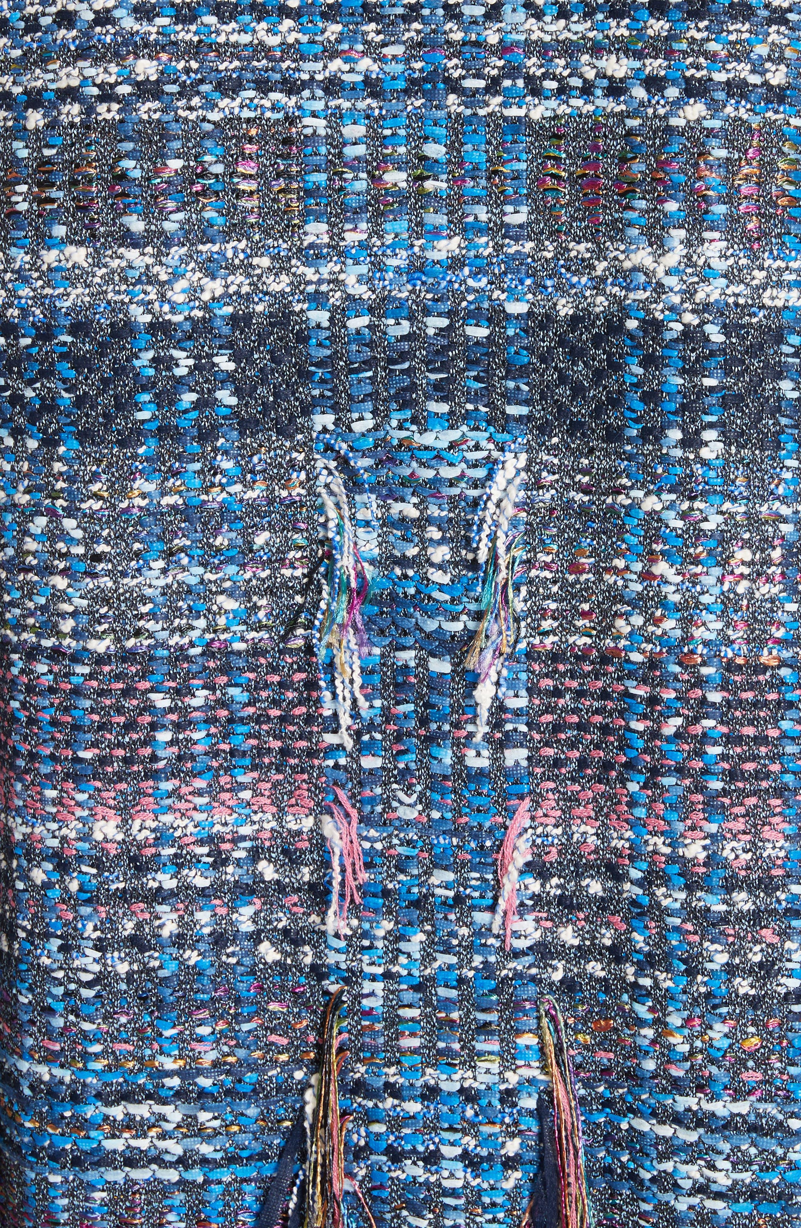Fil Coupé Watercolor Placed Knit Jacket,                             Alternate thumbnail 6, color,                             420