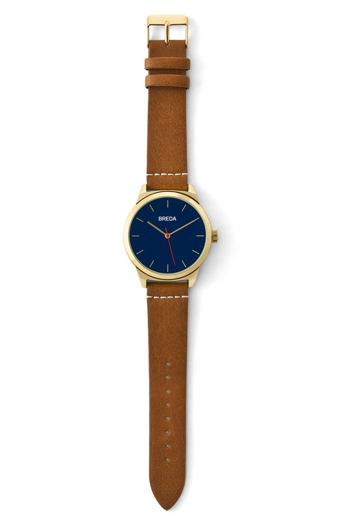 Rand Round Leather Strap Watch, 43mm,                             Alternate thumbnail 3, color,                             200