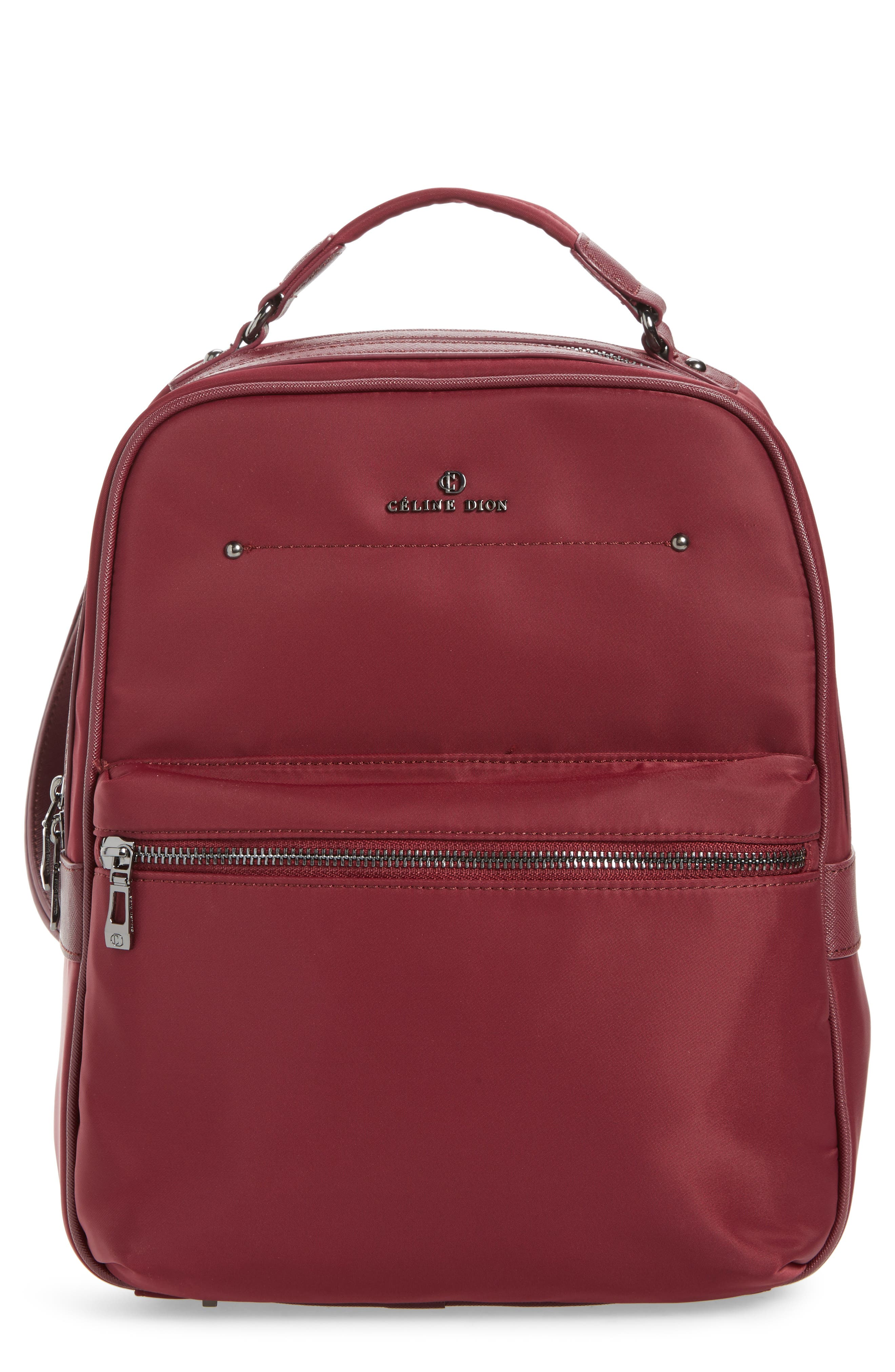Céline Dion Presto Nylon Backpack,                             Main thumbnail 4, color,