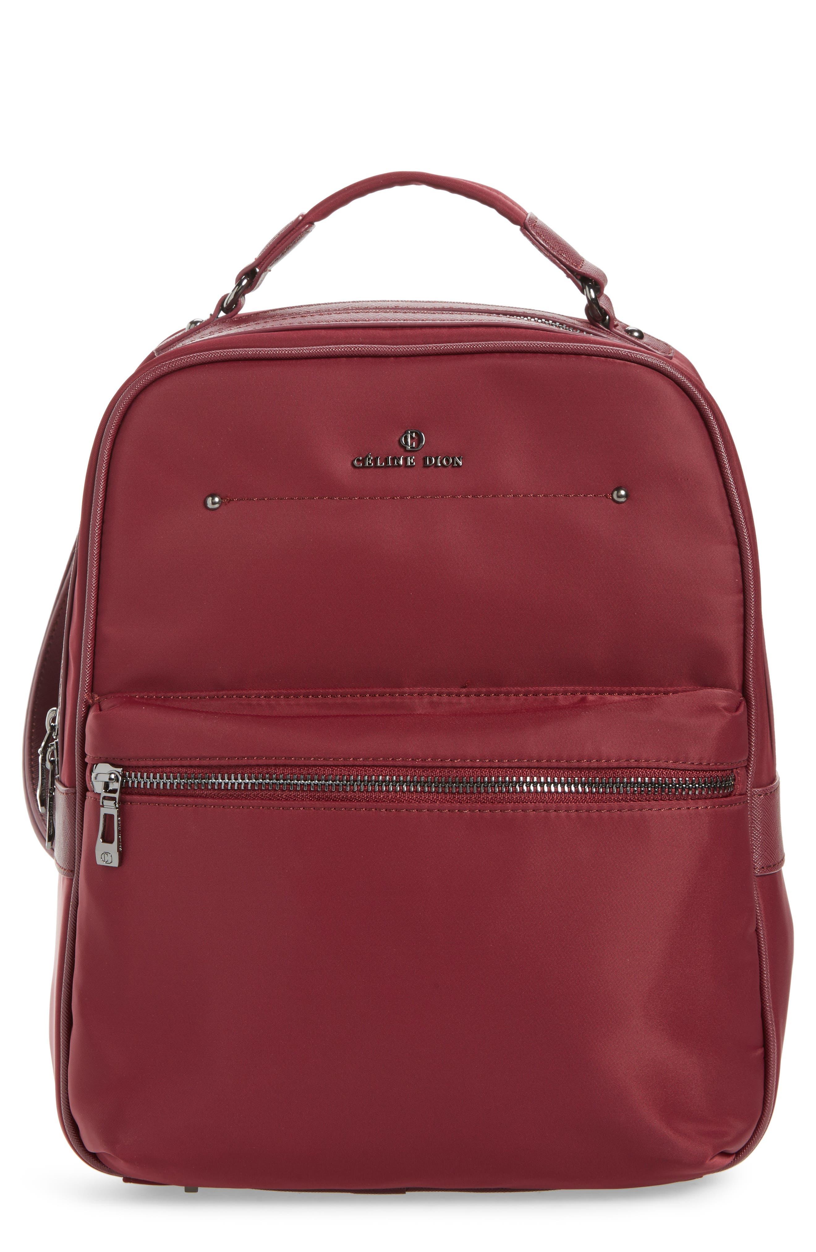 Céline Dion Presto Nylon Backpack,                             Main thumbnail 4, color,