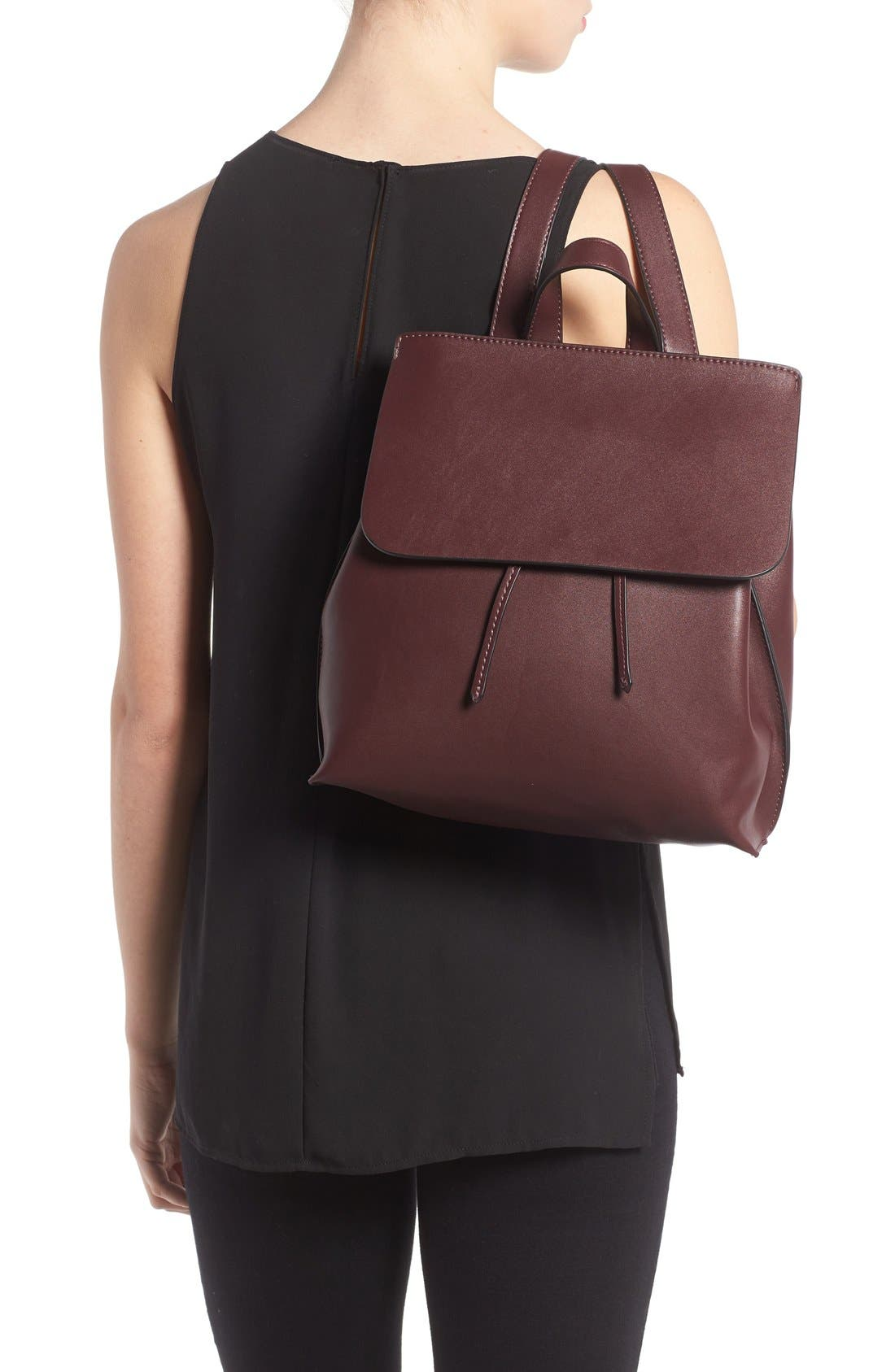 Selena Faux Leather Backpack,                             Alternate thumbnail 27, color,
