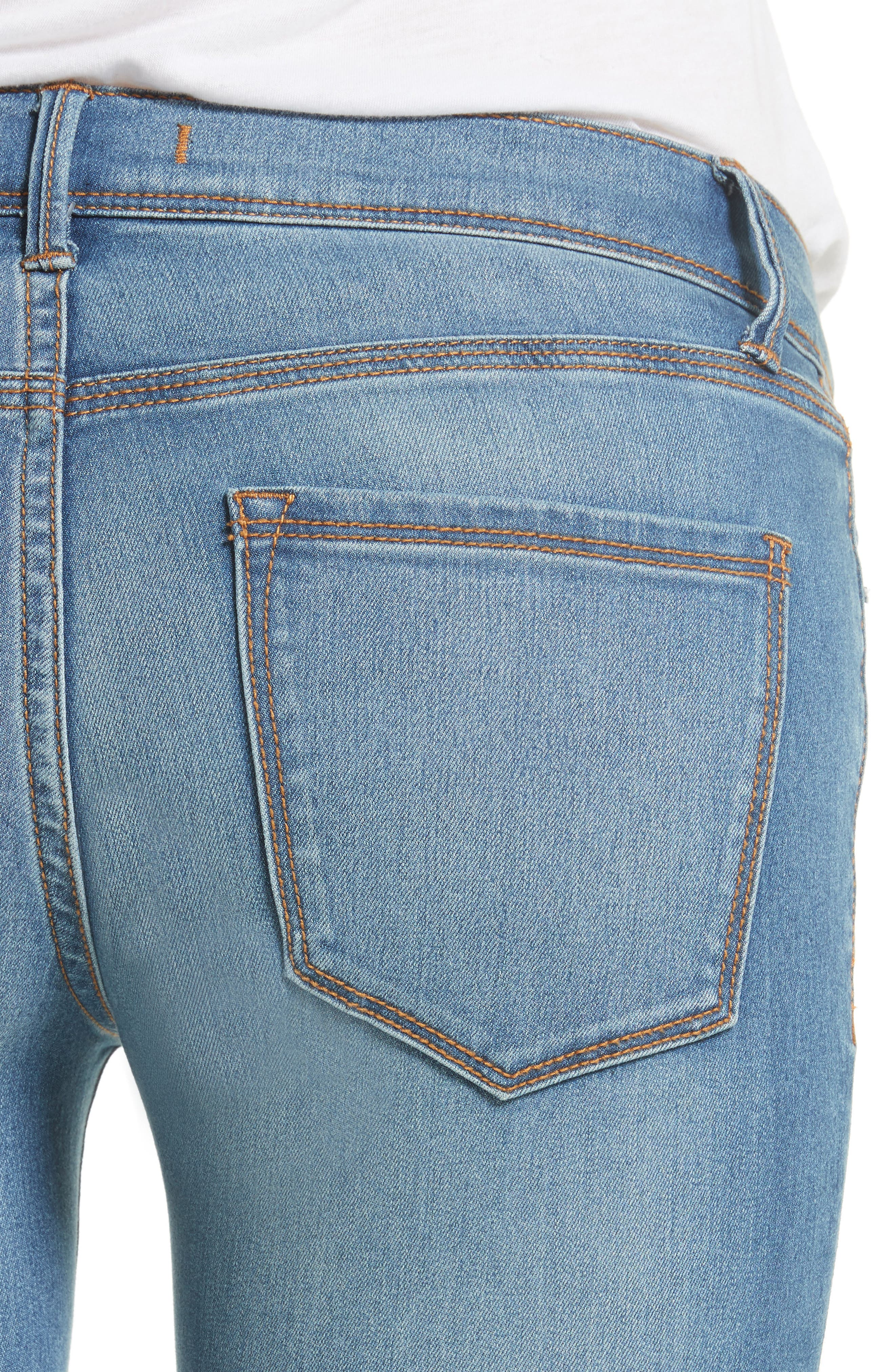 Gummy High Waist Jeans,                             Alternate thumbnail 5, color,