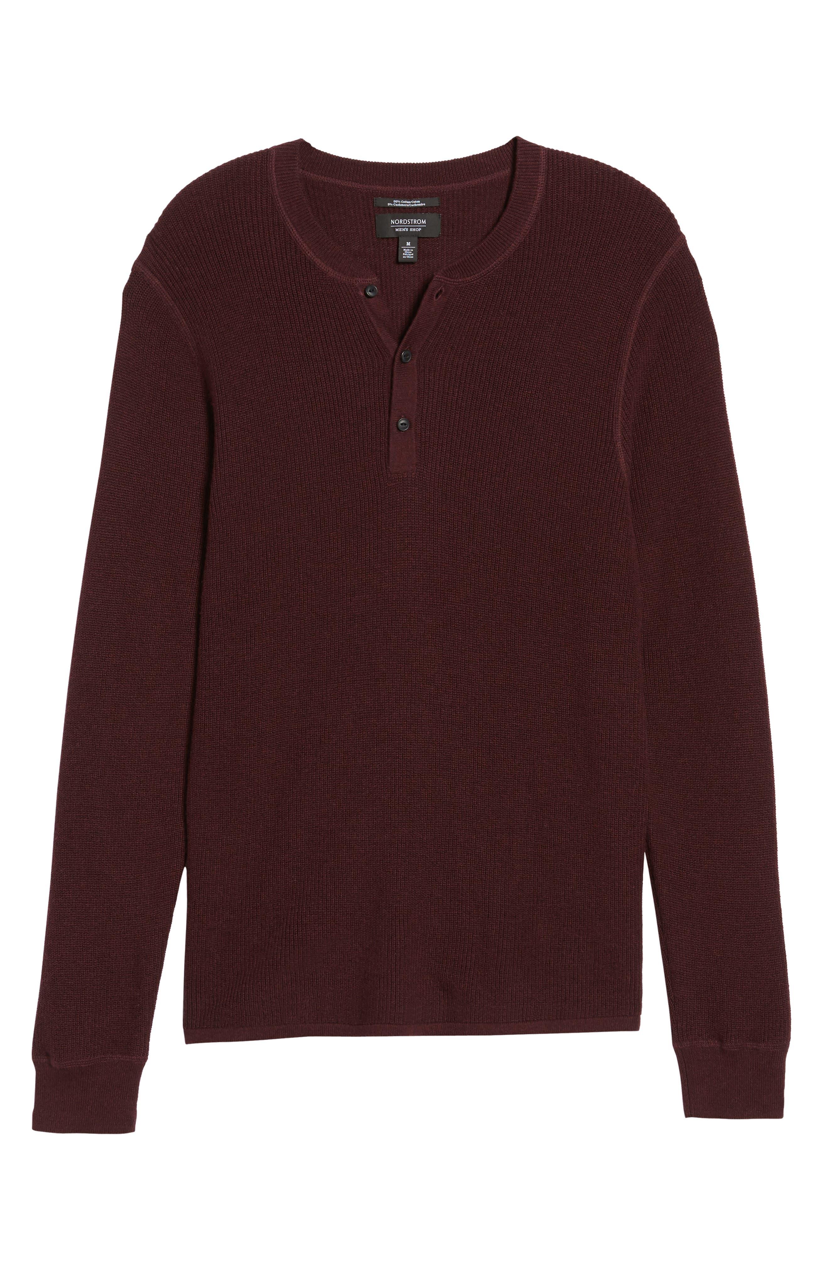 Cotton & Cashmere Henley Sweater,                             Alternate thumbnail 18, color,