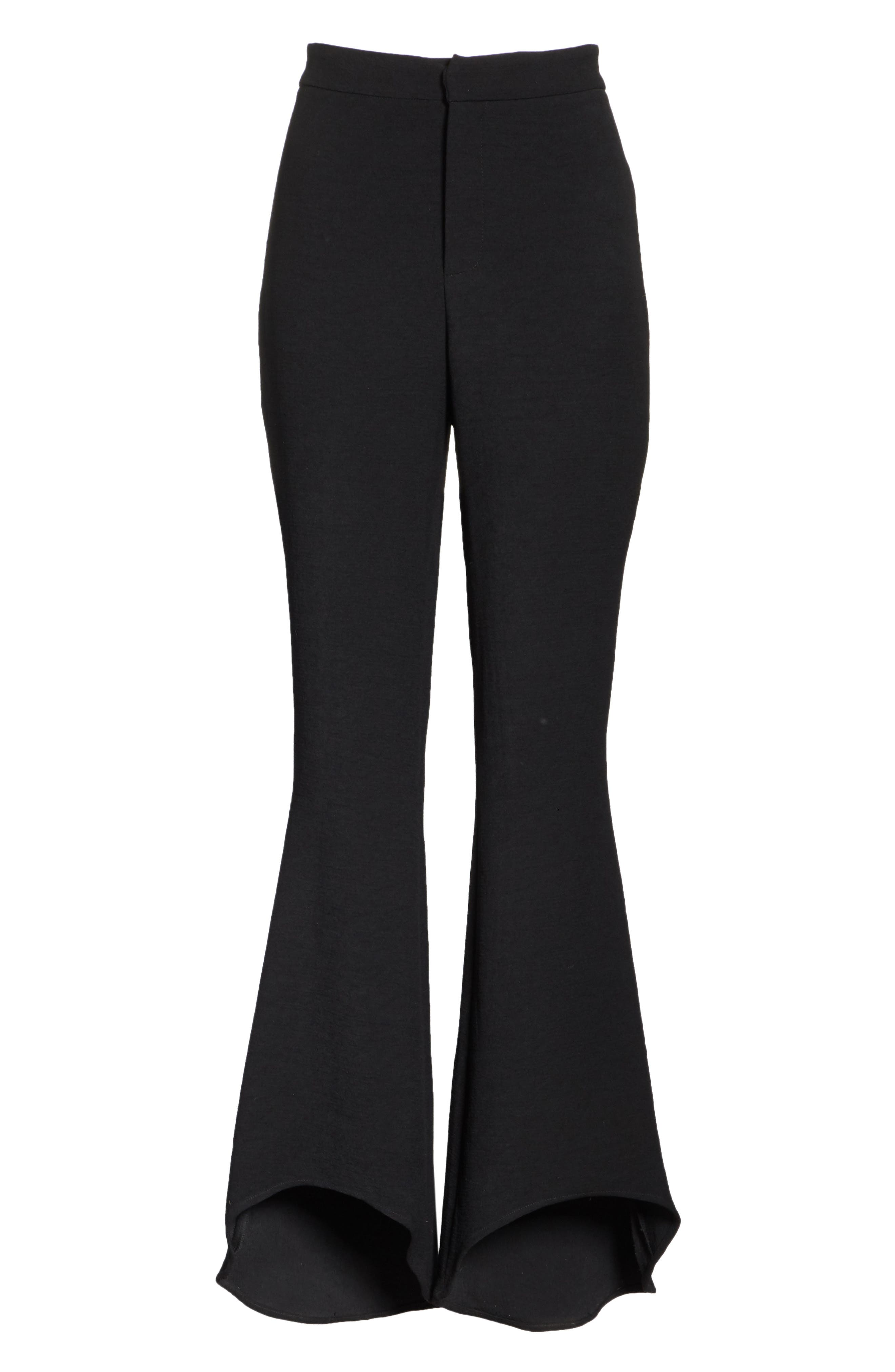 The Carmen Flare Pants,                             Alternate thumbnail 6, color,                             BLACK