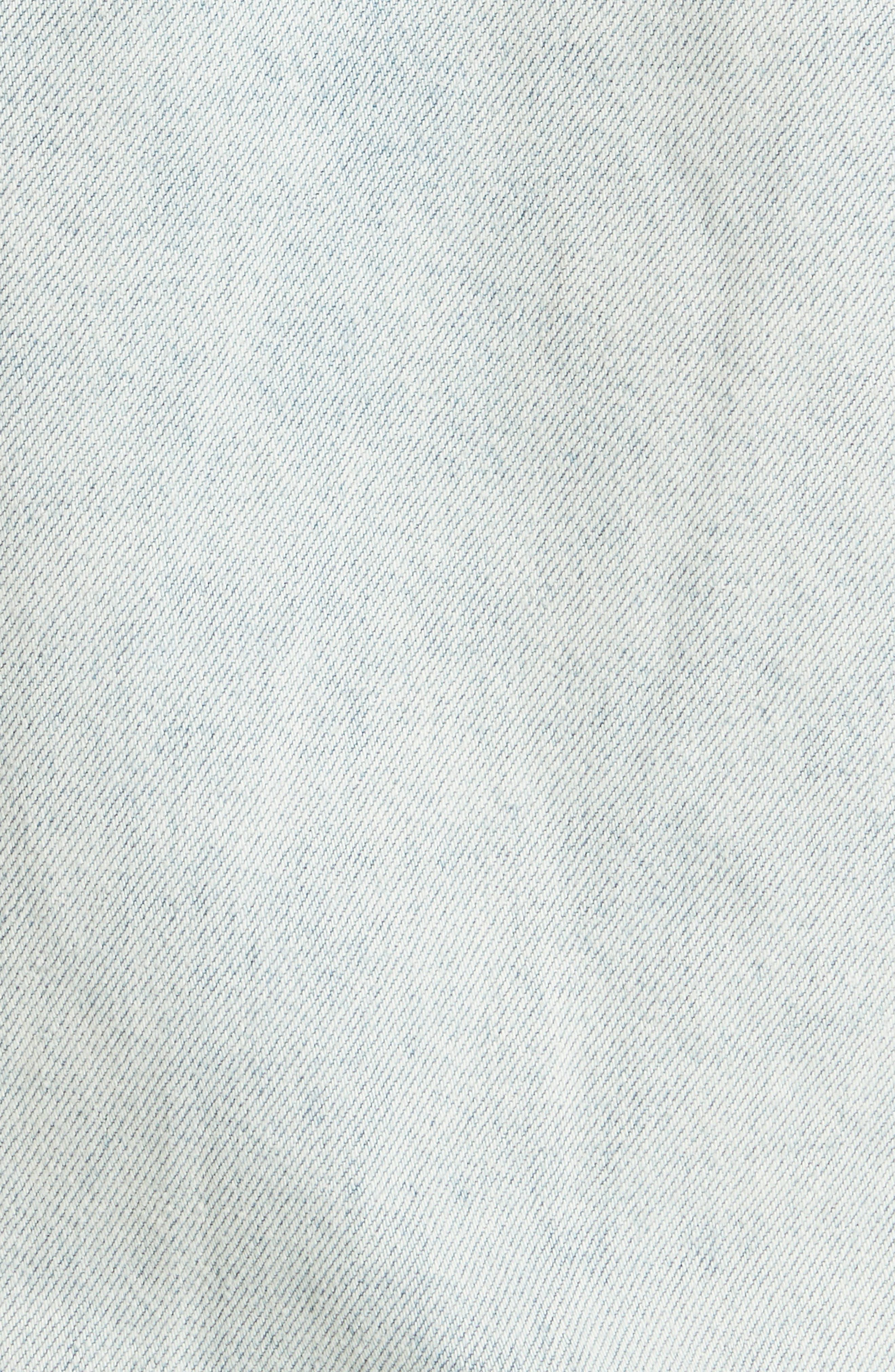 Chaser Ripped Denim Jacket,                             Alternate thumbnail 6, color,                             DENIM
