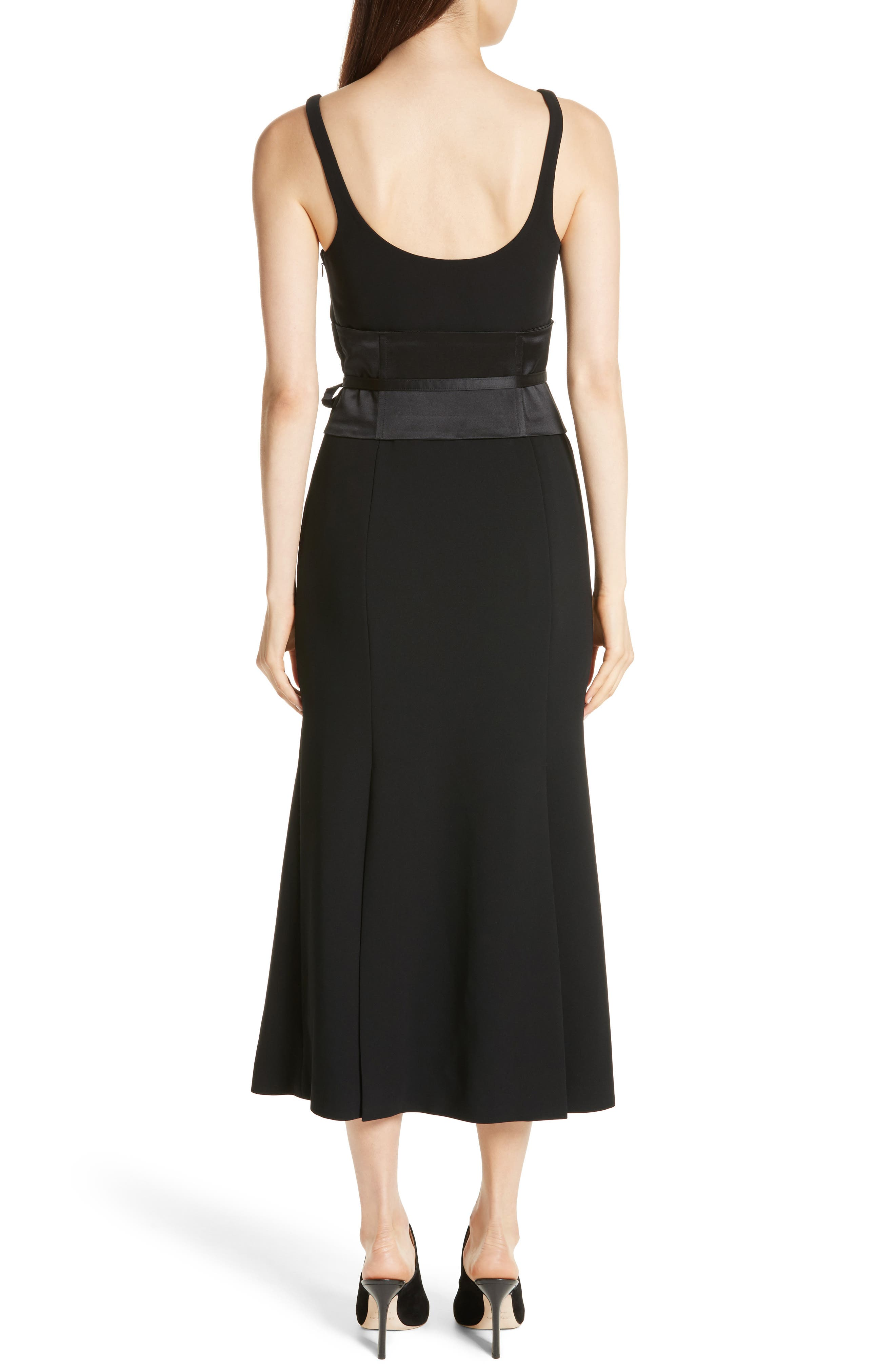 Yvonne Midi Dress,                             Alternate thumbnail 2, color,                             001