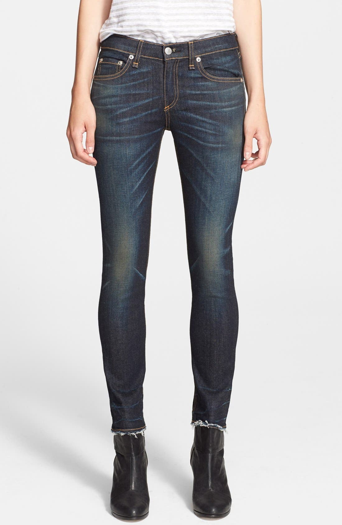 JEAN 'The Crop' Skinny Jeans,                             Main thumbnail 1, color,                             401