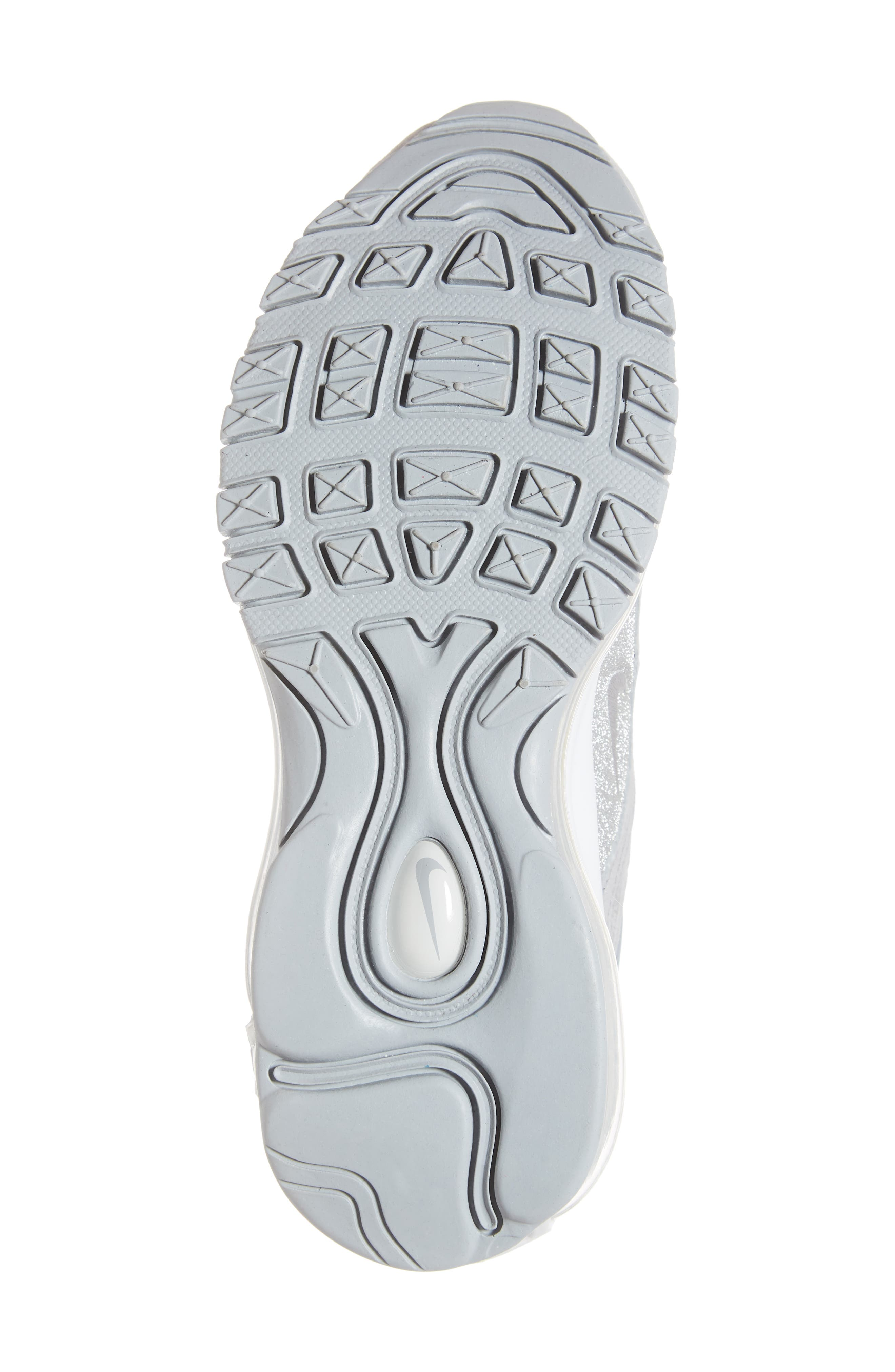 Air Max 97 Sneaker,                             Alternate thumbnail 6, color,                             WOLF GREY/ PLATINUM/ WHITE
