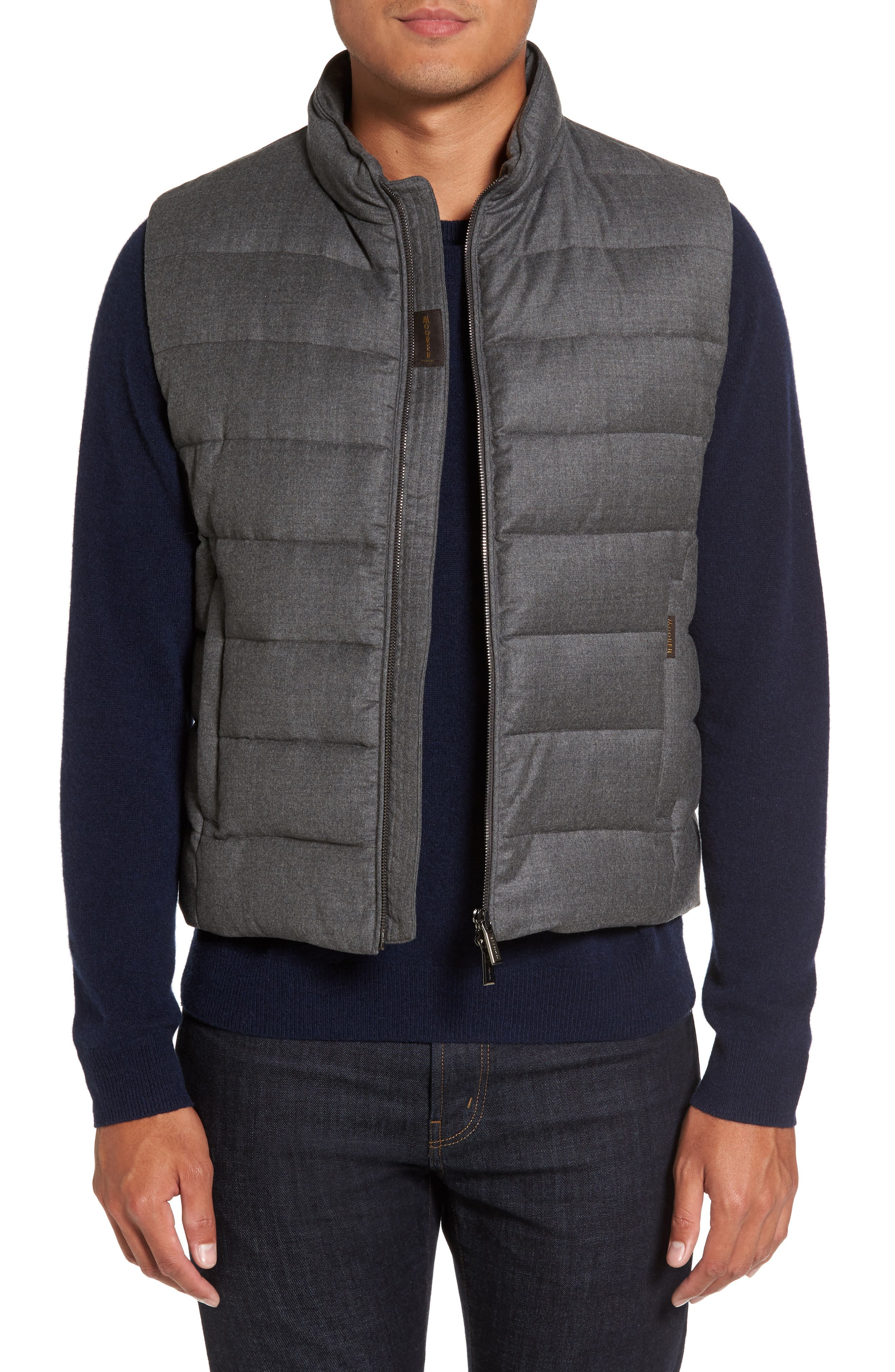 Oliver L Wool & Cashmere Flannel Waterproof Vest,                             Main thumbnail 1, color,                             030