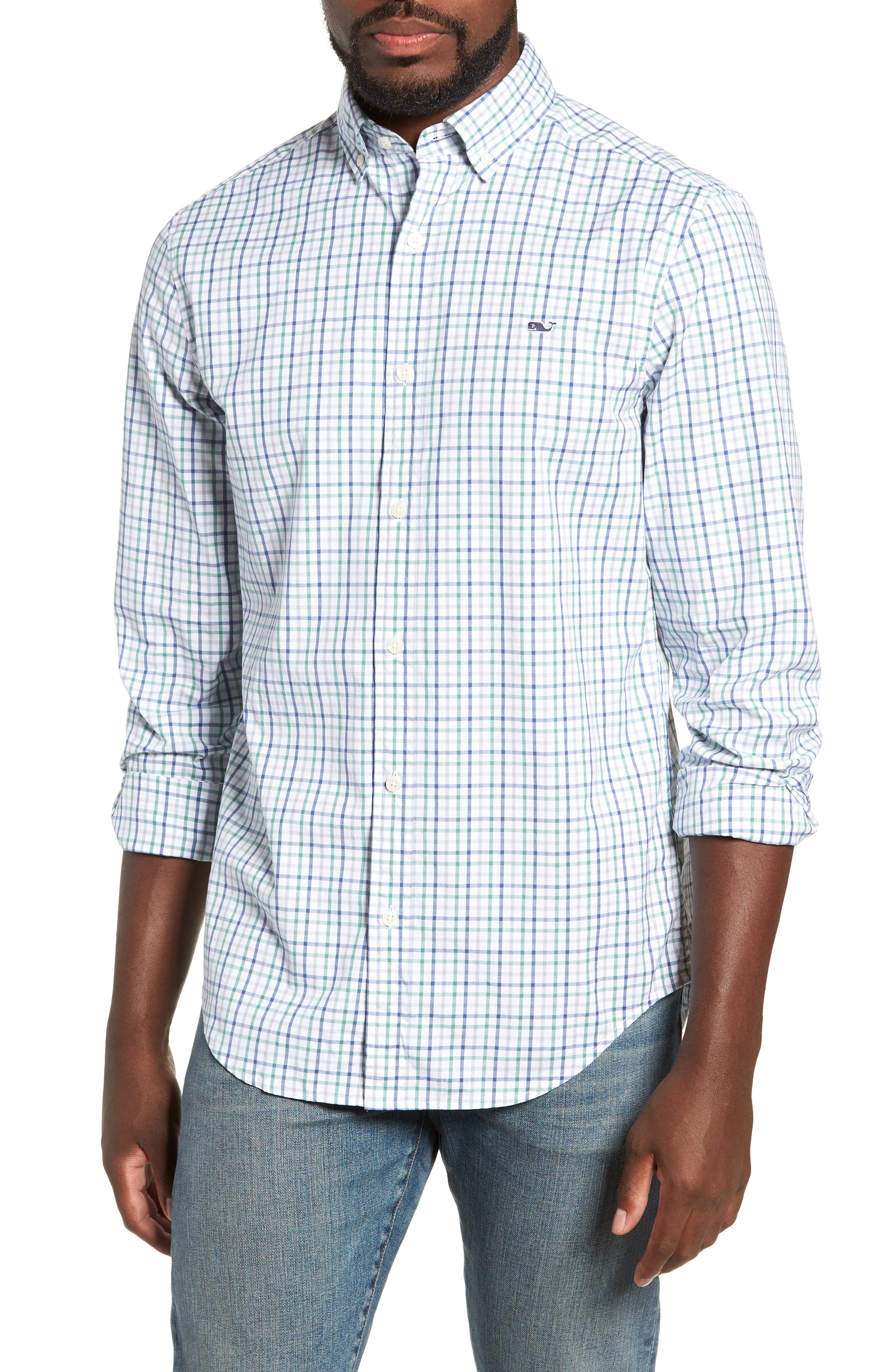 Classic Fit Sport Shirt,                             Main thumbnail 1, color,                             STARBOARD GREEN