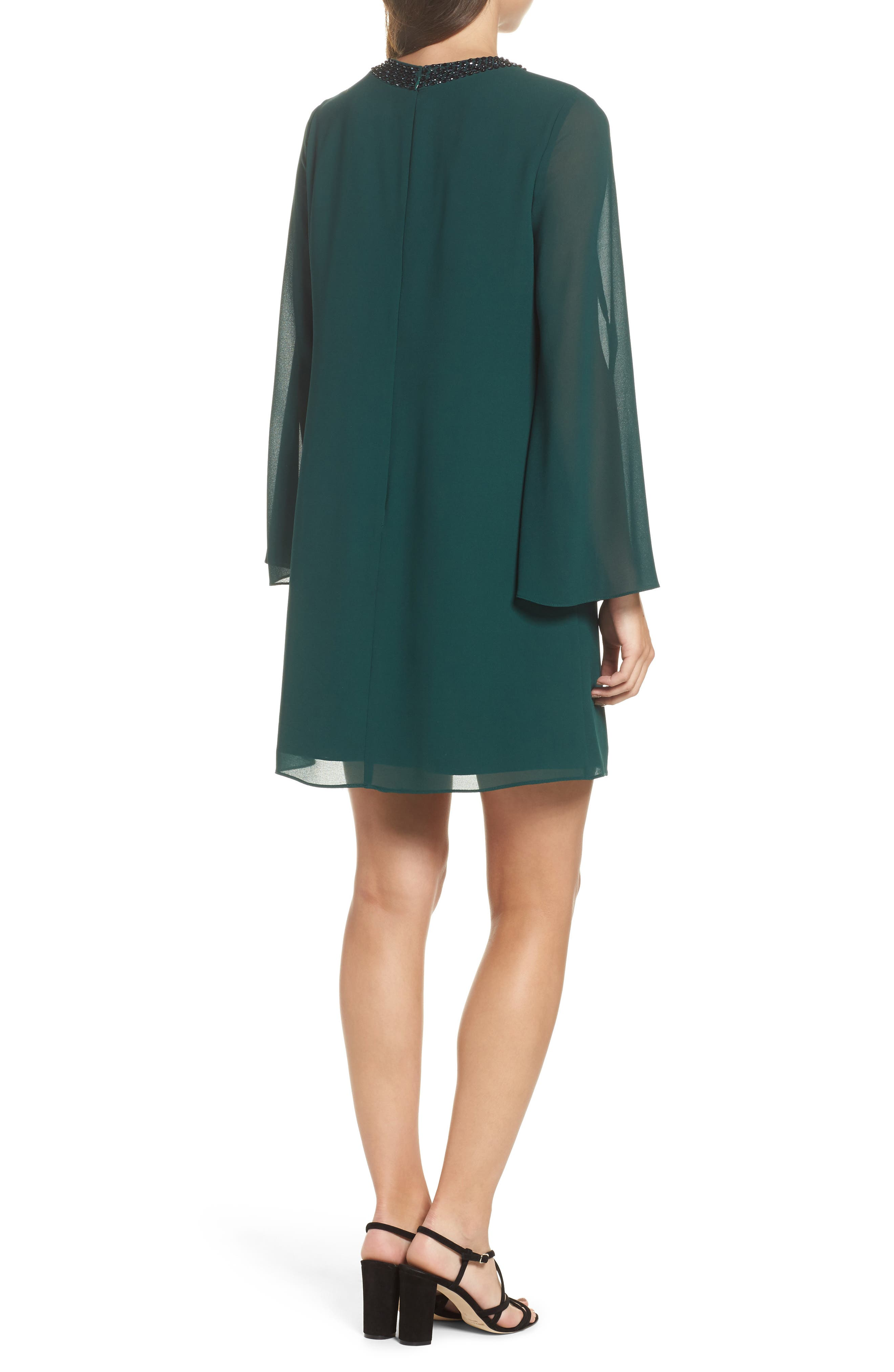 Embellished Chiffon Shift Dress,                             Alternate thumbnail 2, color,                             302