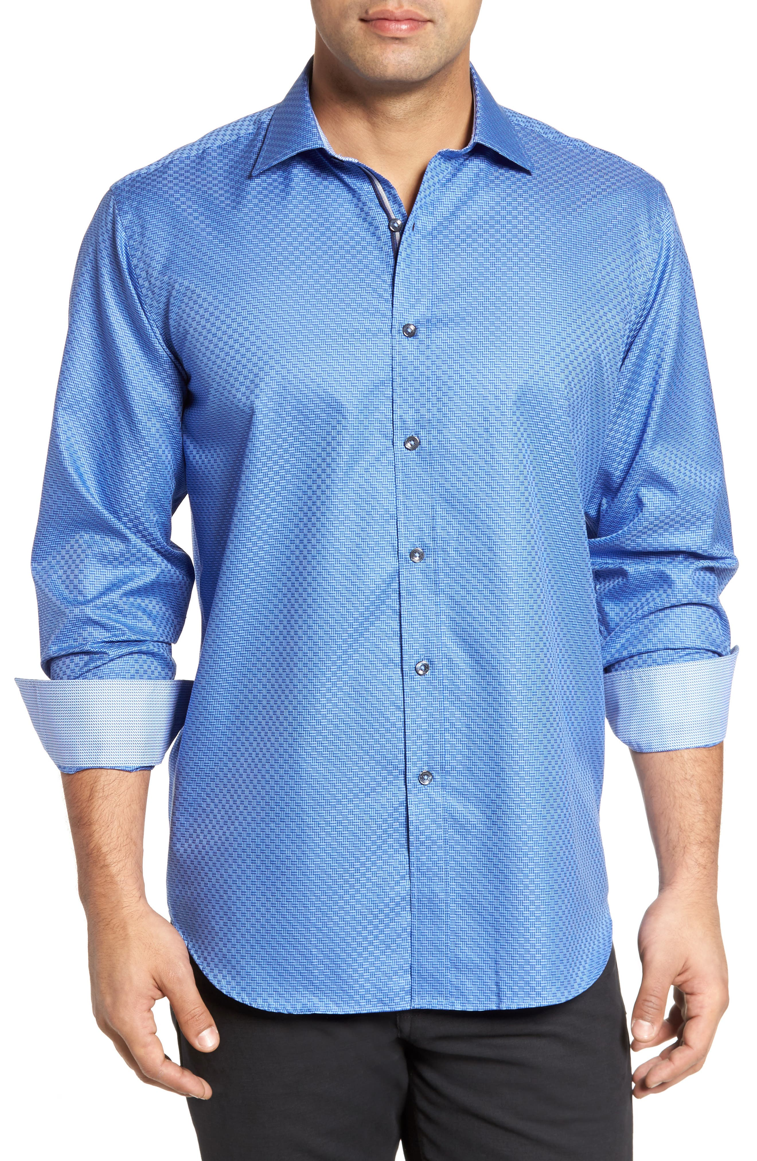 Classic Fit Print Sport Shirt,                         Main,                         color, 411